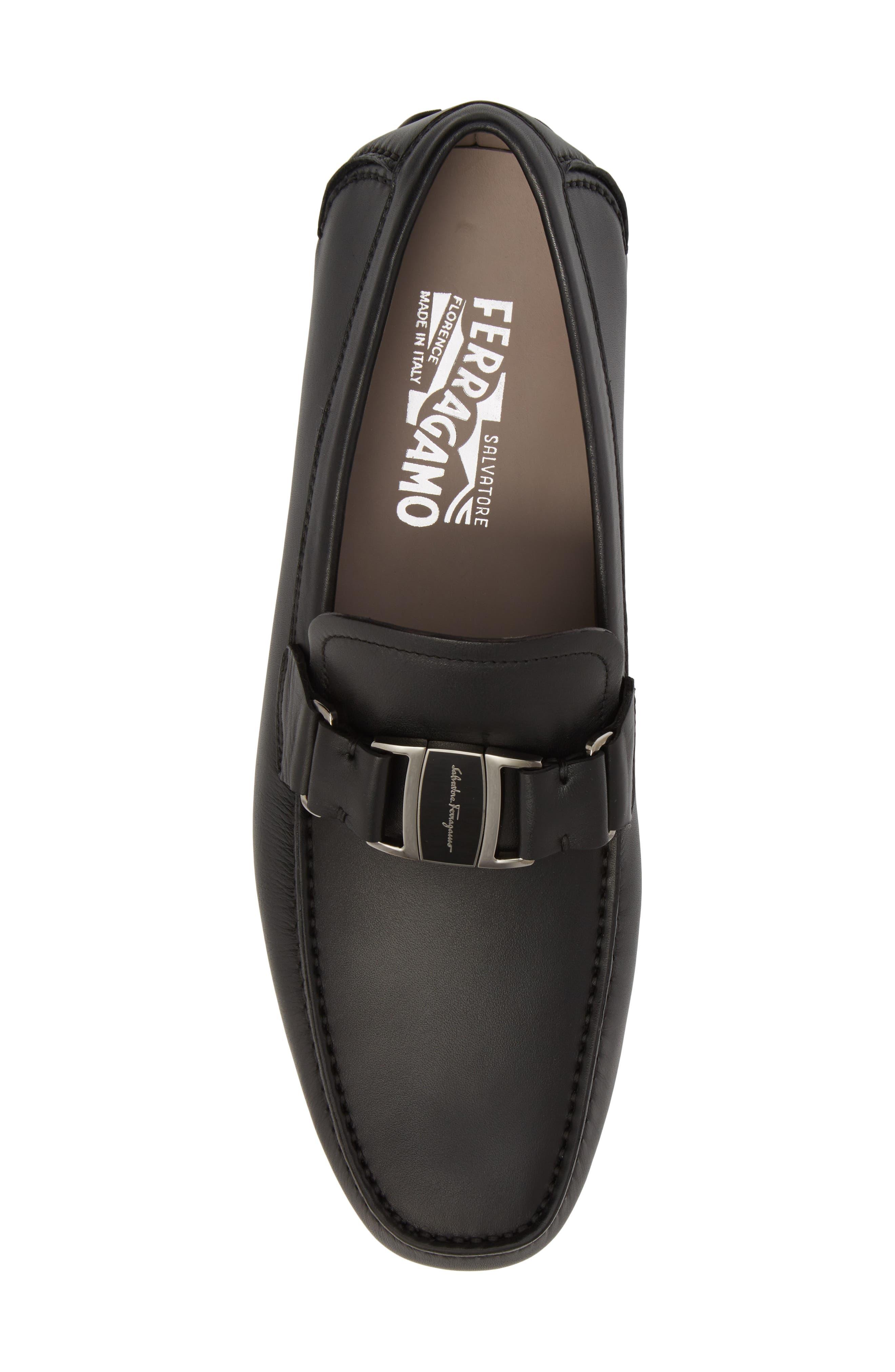 Sardegna Driving Shoe,                             Alternate thumbnail 5, color,                             BLACK LEATHER