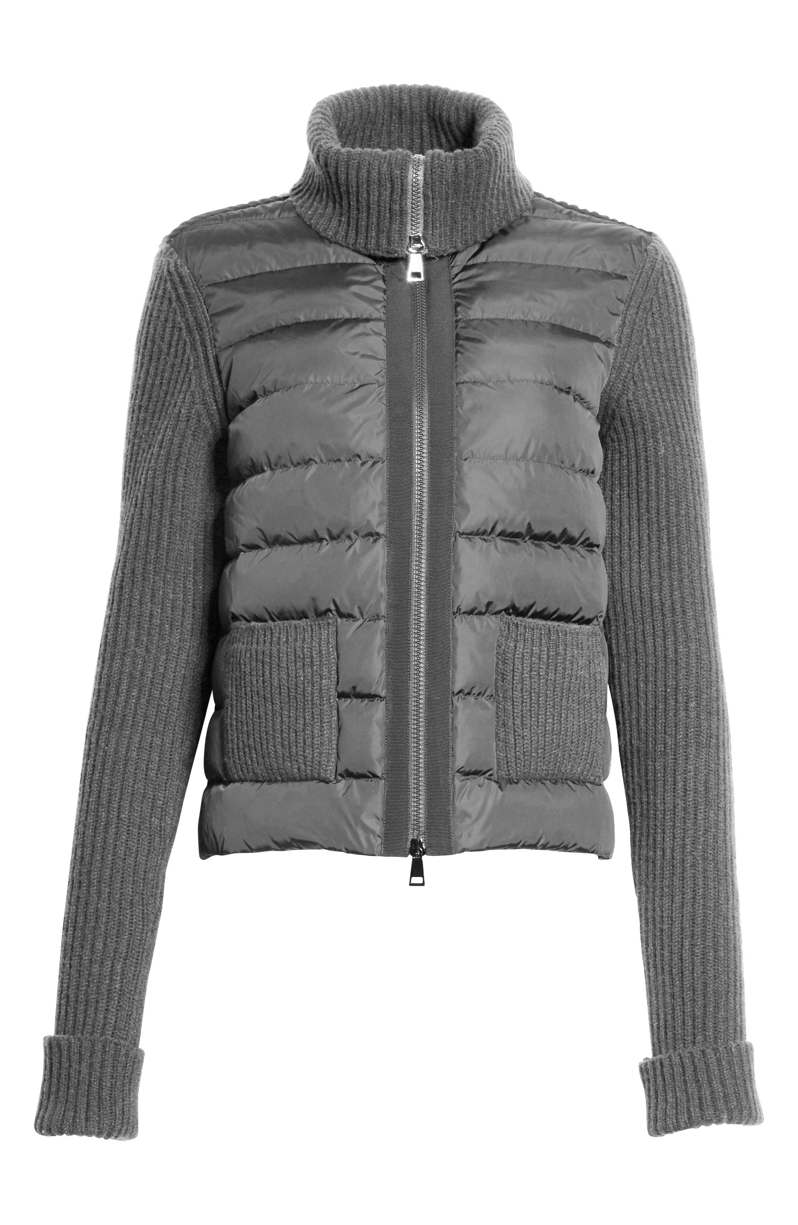 Ciclista Quilted Down Front Sweater Jacket,                             Alternate thumbnail 2, color,                             GREY