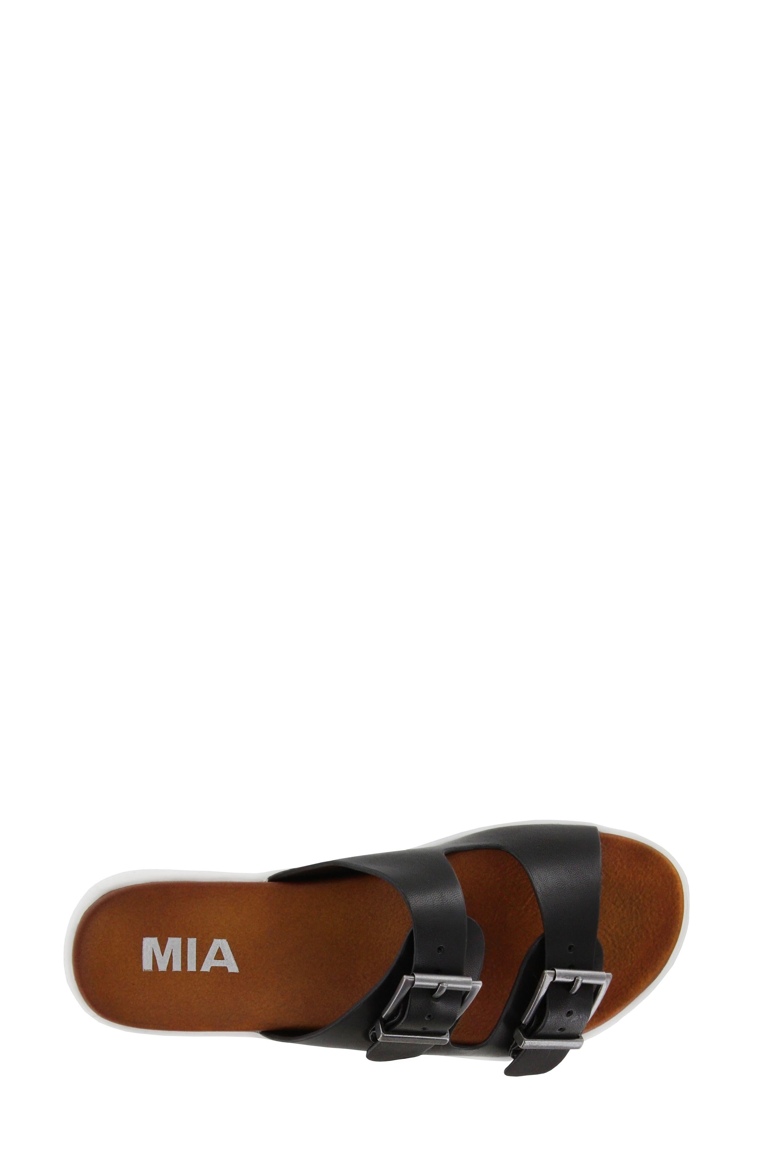 Venessa Platform Slide Sandal,                             Alternate thumbnail 5, color,                             001