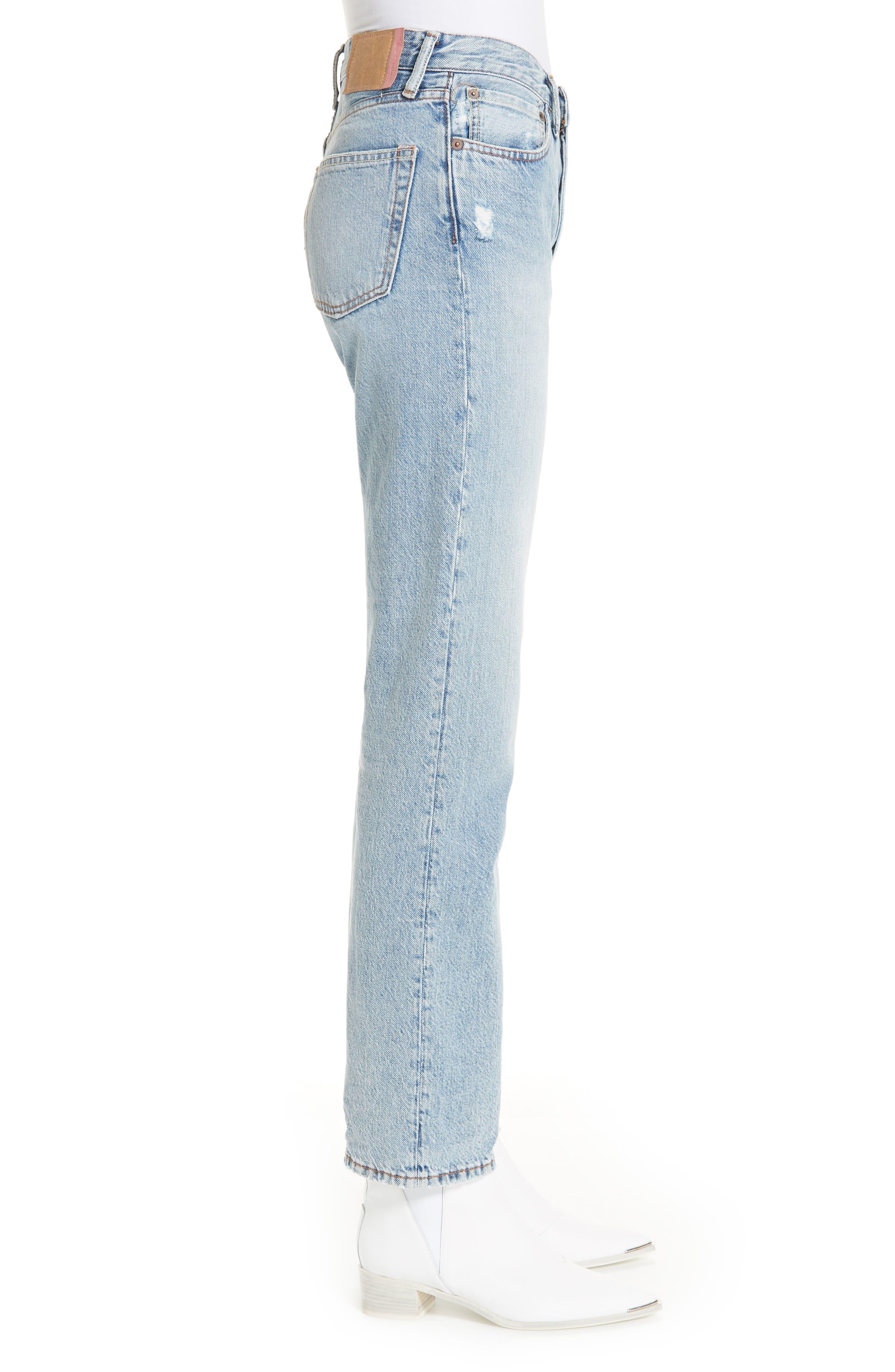 1997 Straight Leg Jeans,                             Alternate thumbnail 3, color,                             LIGHT BLUE