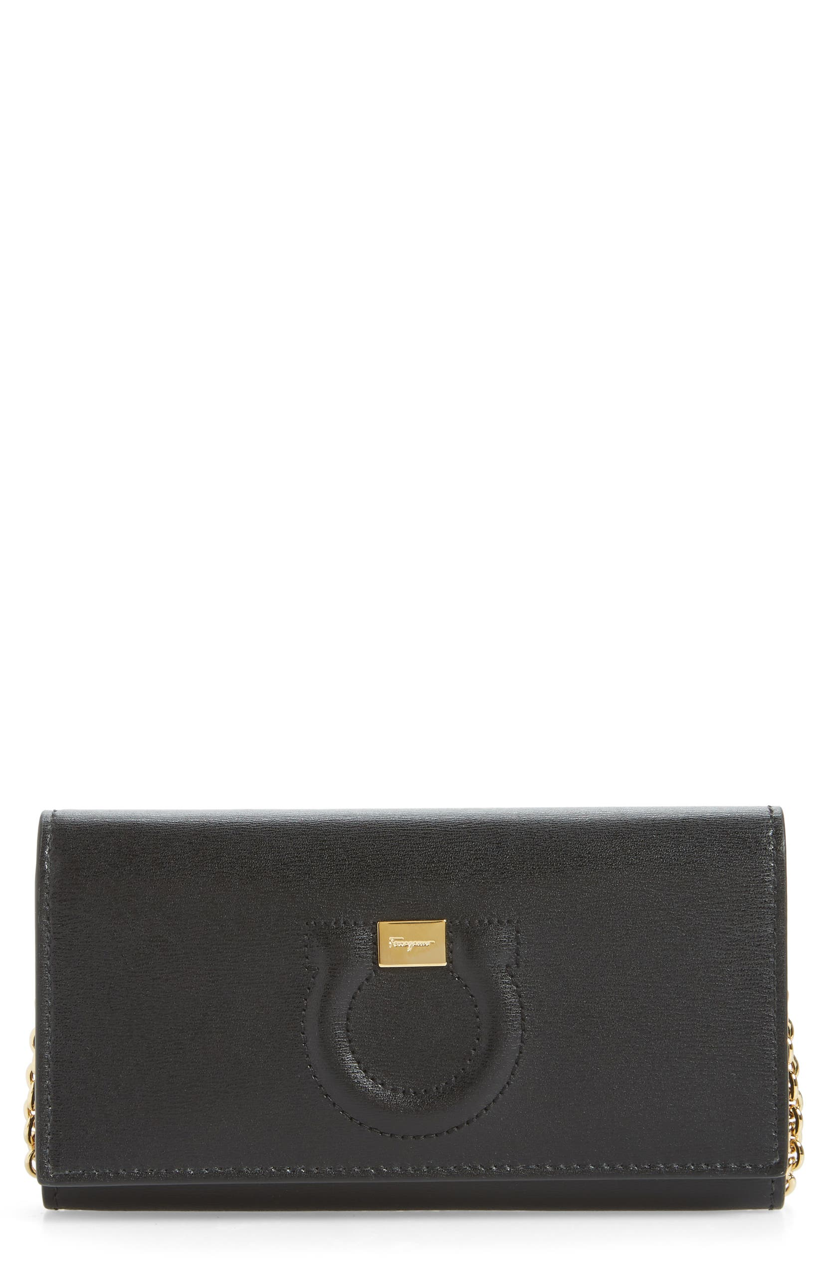 Salvatore Ferragamo City Quilted Gancio Leather Wallet on a Chain    Nordstrom 593ba36f90