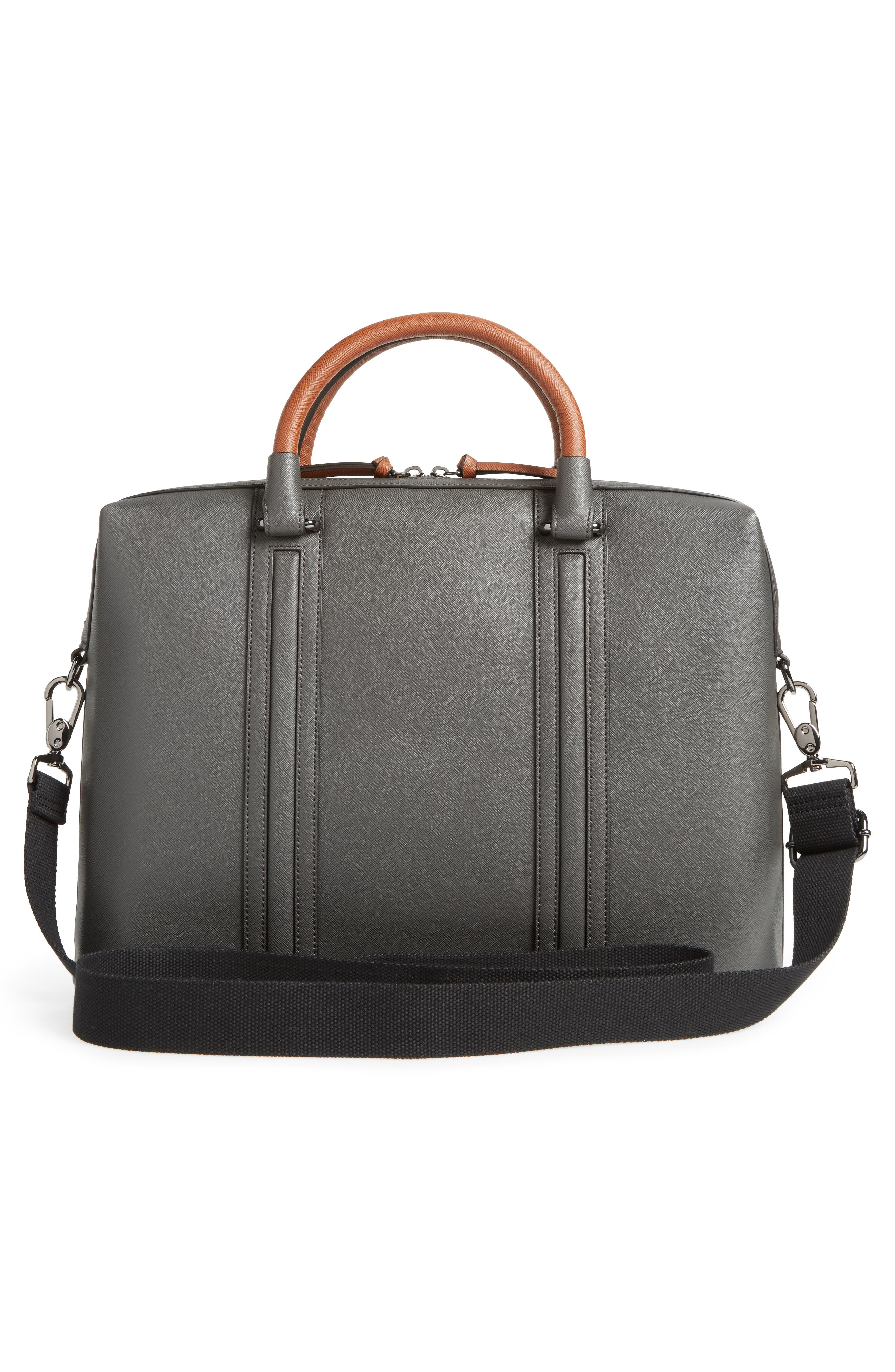 TED BAKER LONDON,                             Crossgrain Document Briefcase,                             Alternate thumbnail 3, color,                             020