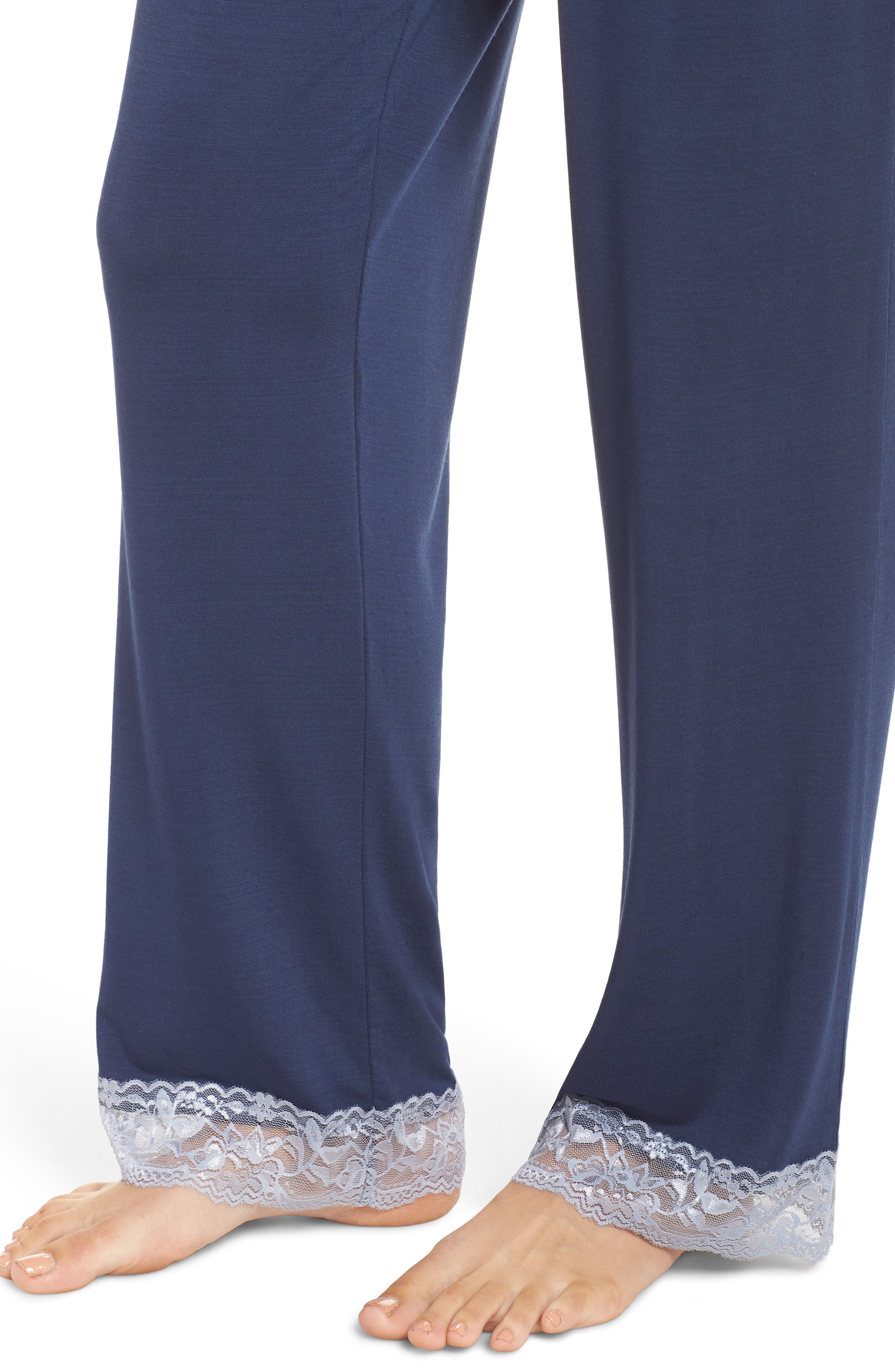 Snuggle Lounge Pants,                             Alternate thumbnail 4, color,                             STEEL BLUE