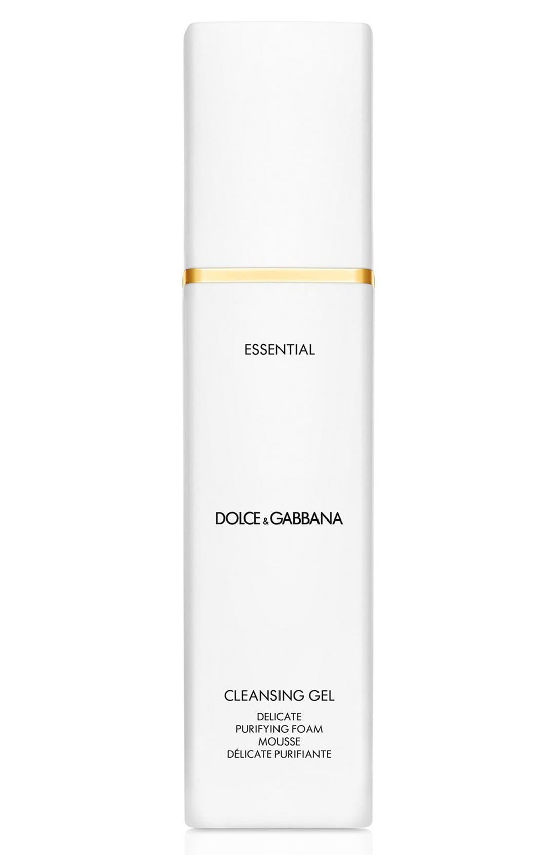 'Essential' Cleansing Gel Delicate Purifying Foam Mousse,                             Main thumbnail 1, color,                             000