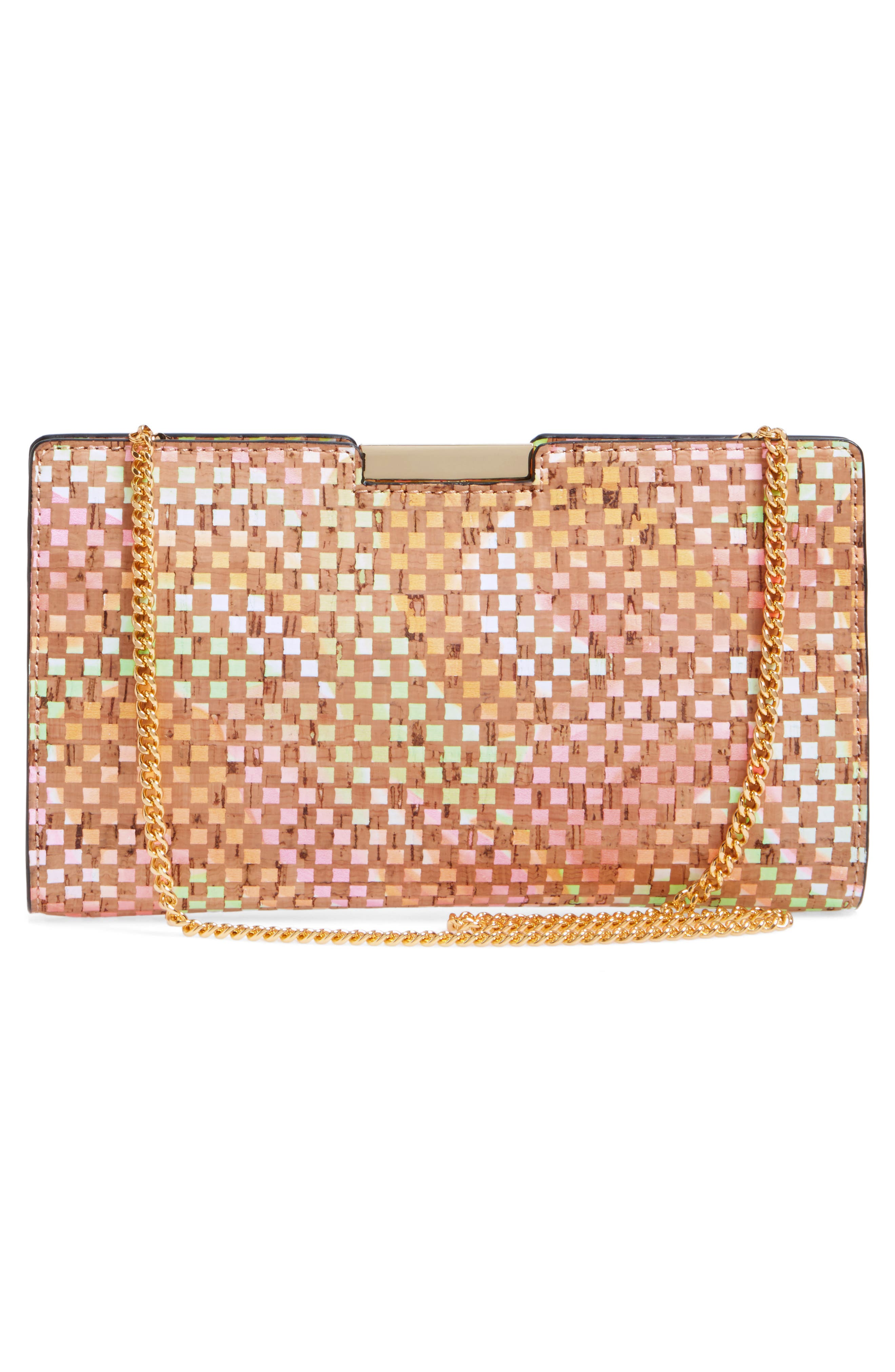 Small Geo Cork Frame Clutch,                             Alternate thumbnail 3, color,