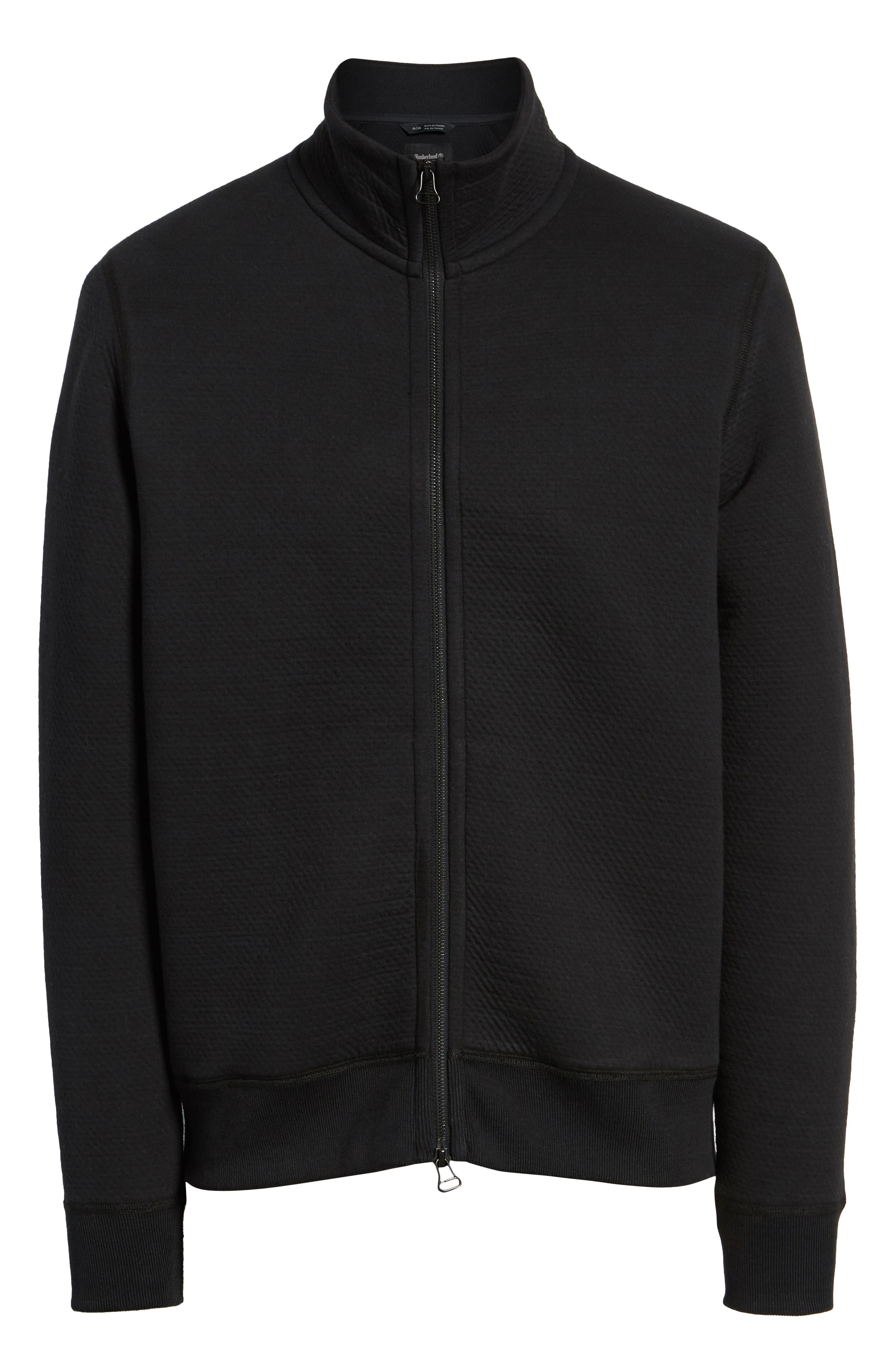 Cabin Fleece Jacket,                             Alternate thumbnail 6, color,                             BLACK