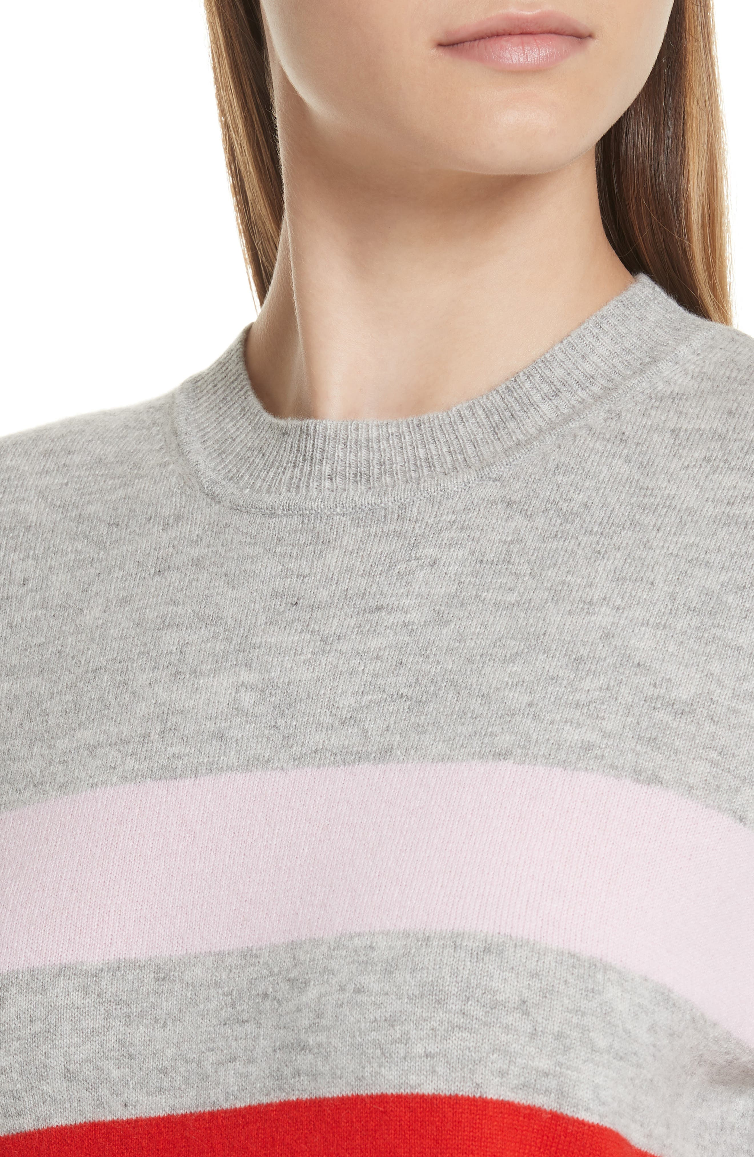 AAA Candy Stripe Cashmere Sweater,                             Alternate thumbnail 4, color,                             020