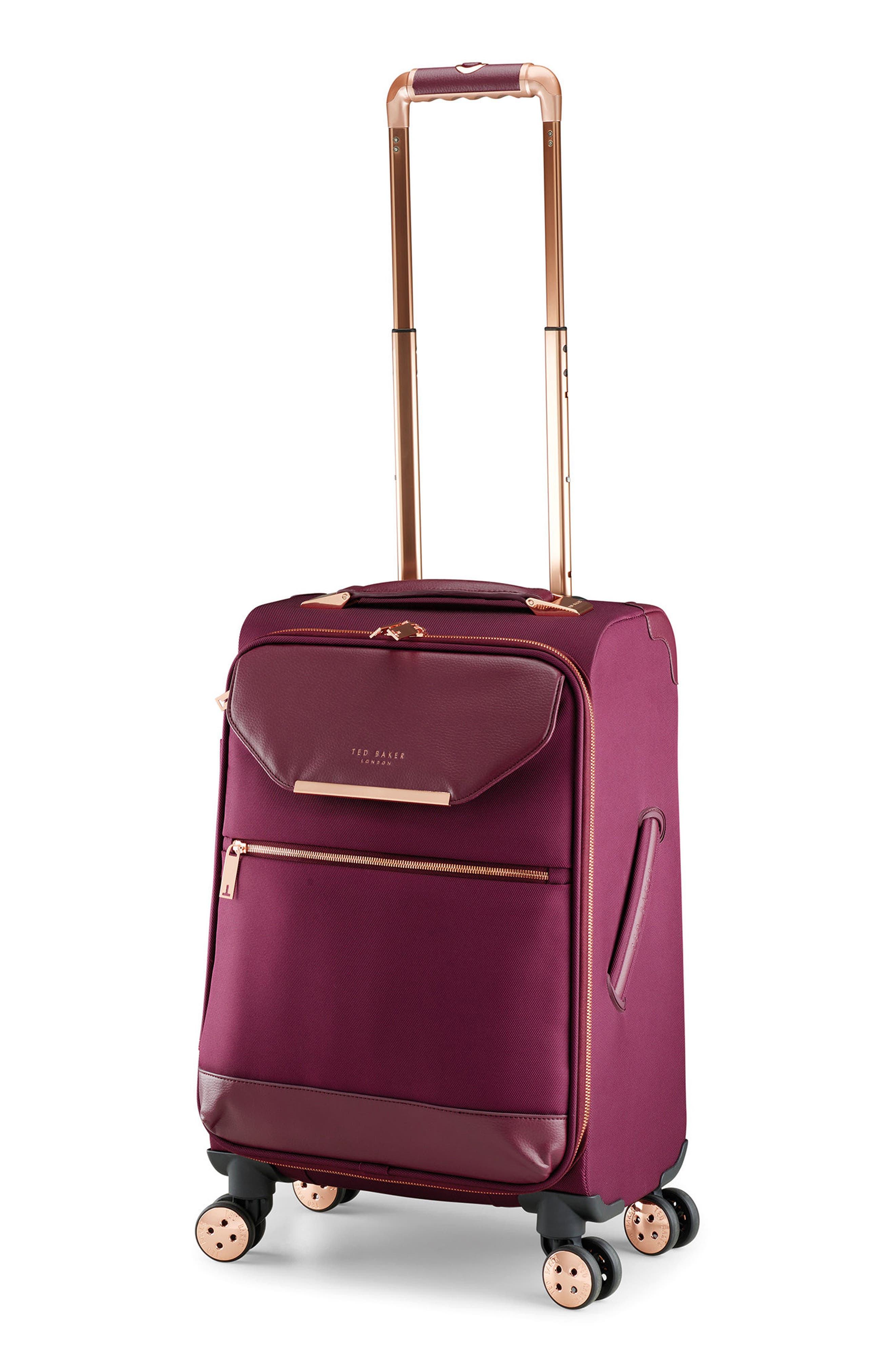 22-Inch Spinner Trolley Packing Case,                             Alternate thumbnail 3, color,                             BURGUNDY