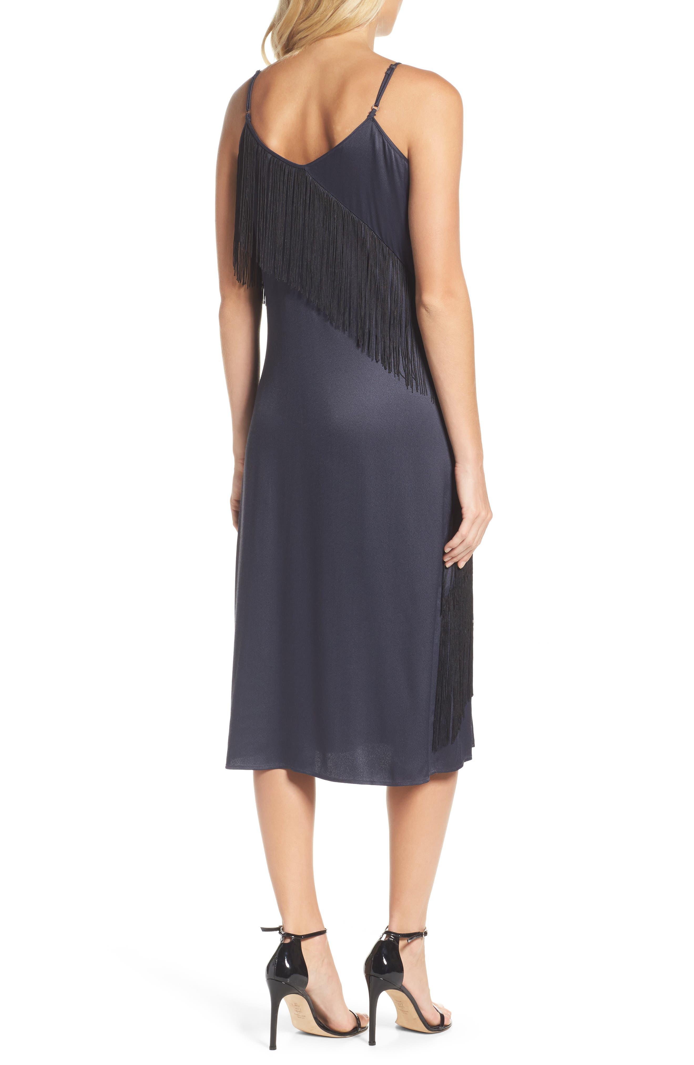 Fringed Up Midi Dress,                             Alternate thumbnail 2, color,                             490
