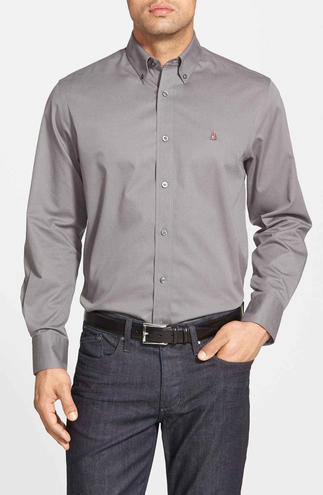 Smartcare<sup>™</sup> Traditional Fit Twill Boat Shirt,                             Main thumbnail 8, color,