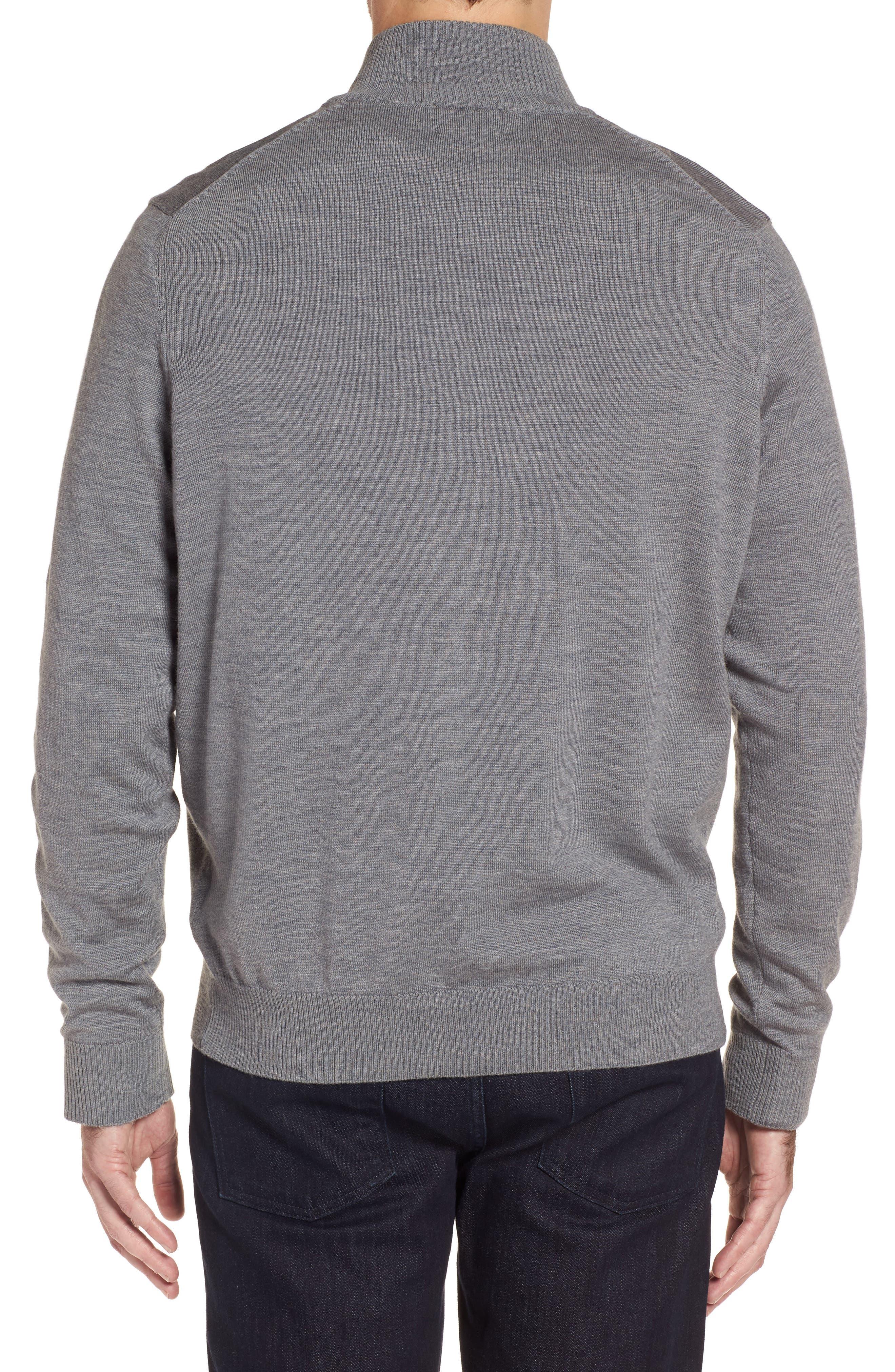 Merino Wool Blend Mock Neck Sweater,                             Alternate thumbnail 5, color,