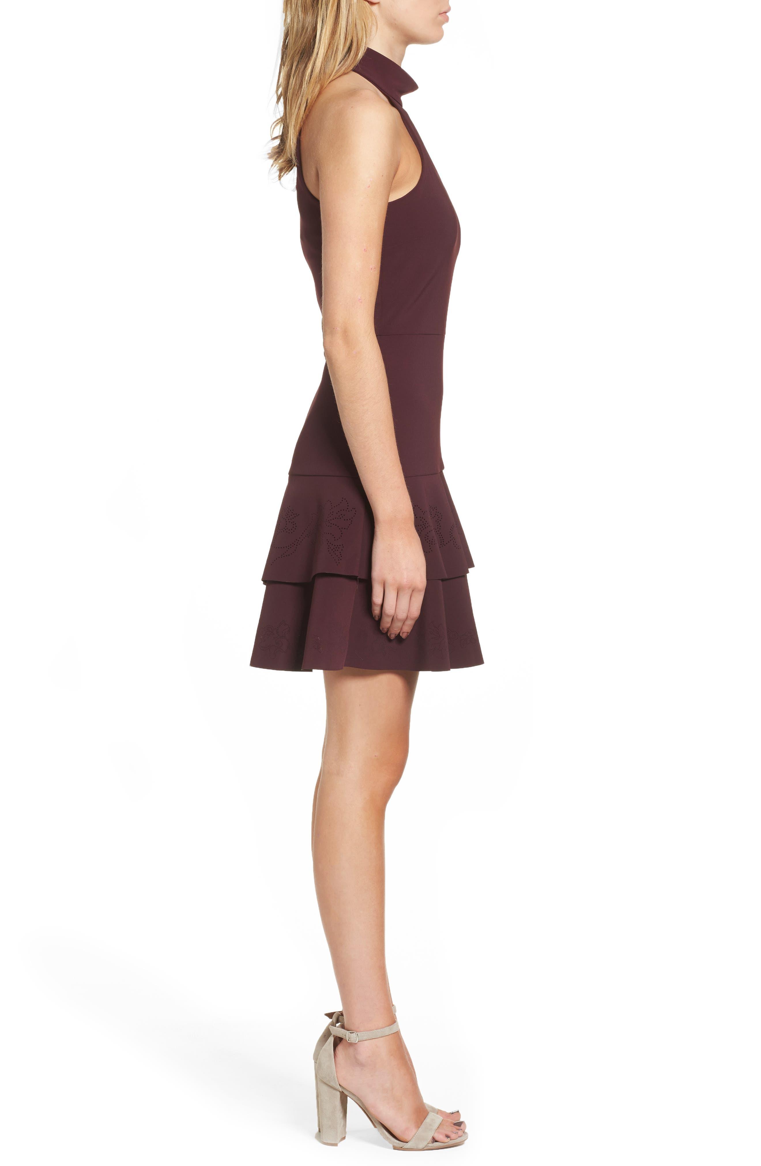 Luana Tiered Halter Dress,                             Alternate thumbnail 3, color,                             931