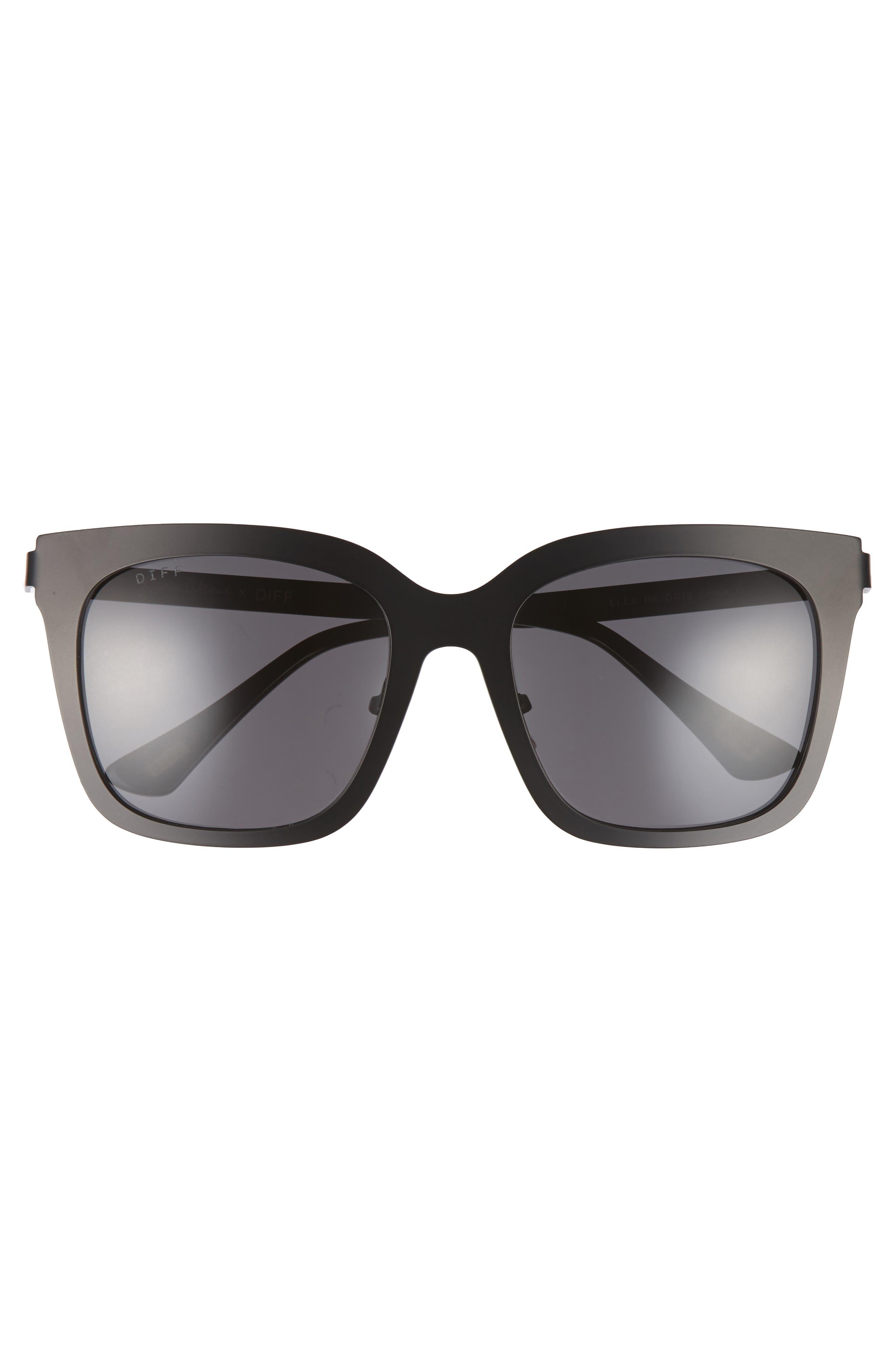 x Lauren Akins Ella 53mm Cat Eye Sunglasses,                             Alternate thumbnail 3, color,
