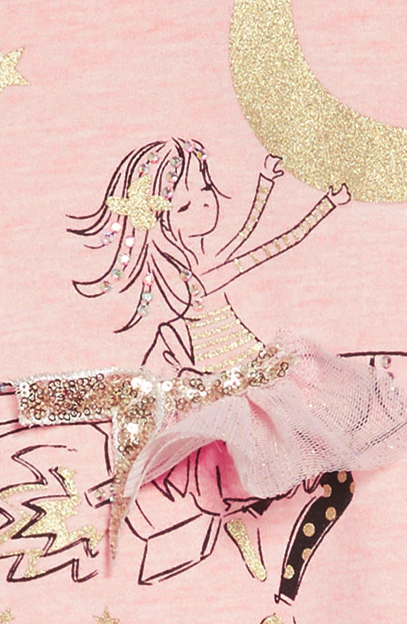 Rocket Girl A-Line Dress,                             Alternate thumbnail 3, color,                             PINK
