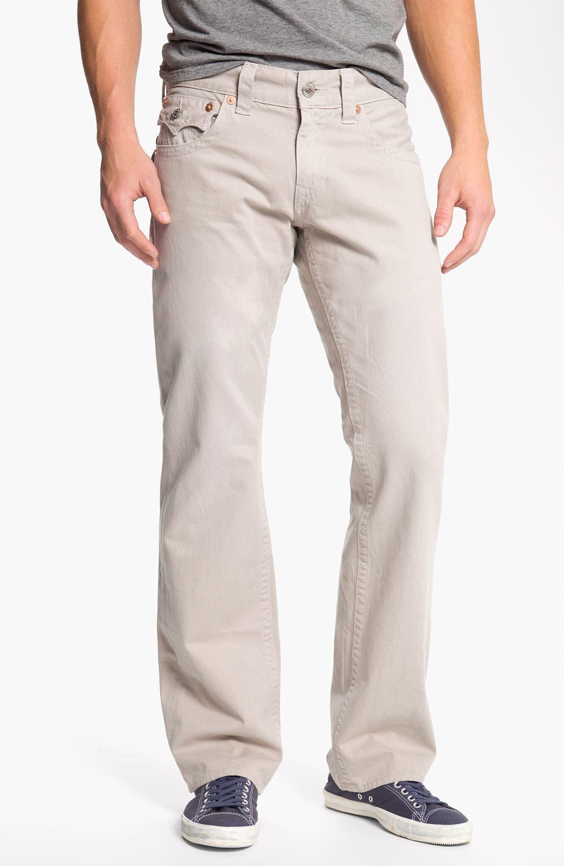 'Ricky' Straight Leg Cotton Twill Pants,                             Alternate thumbnail 15, color,