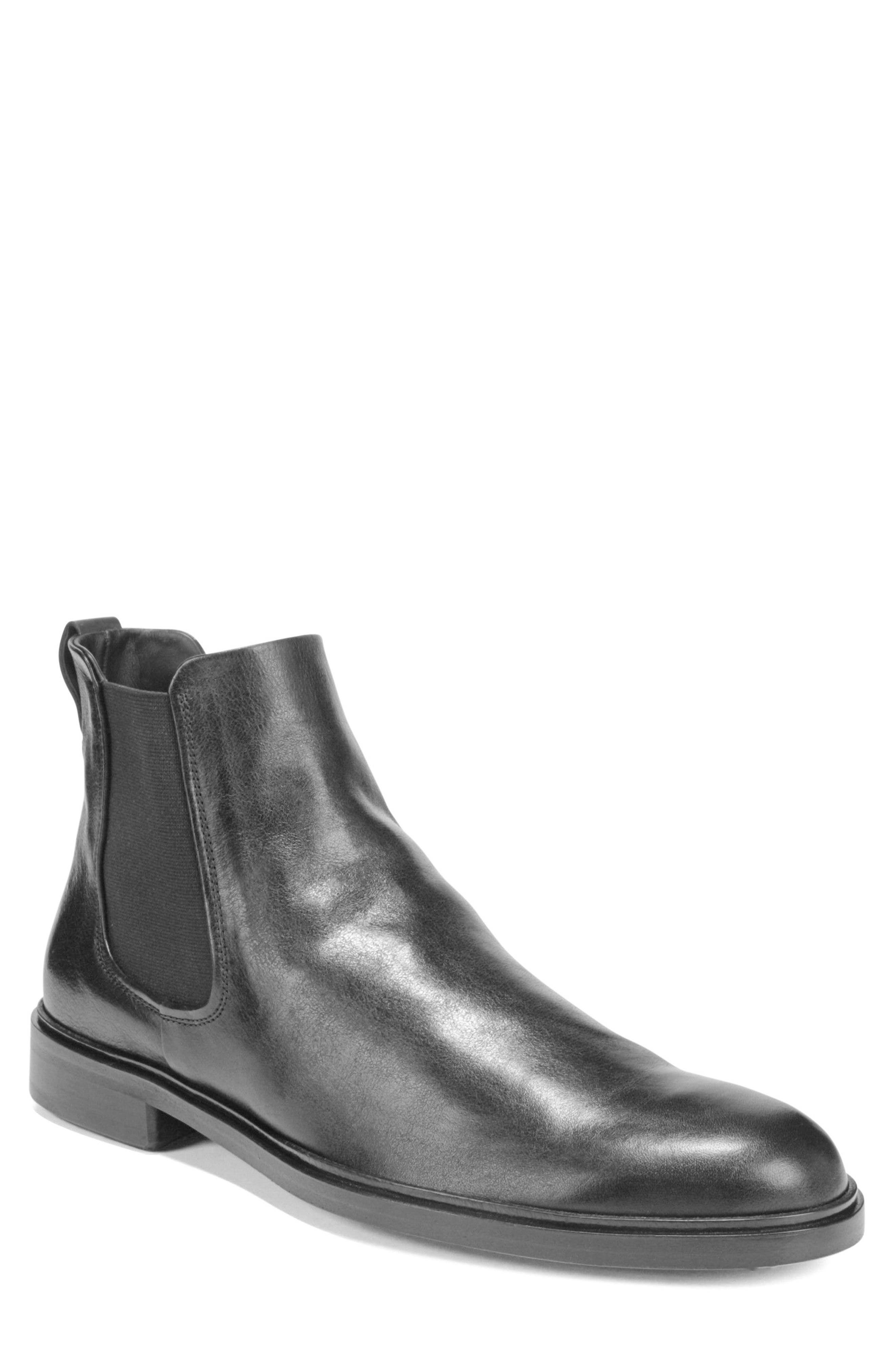 VINCE Burroughs Chelsea Boot, Main, color, BLACK