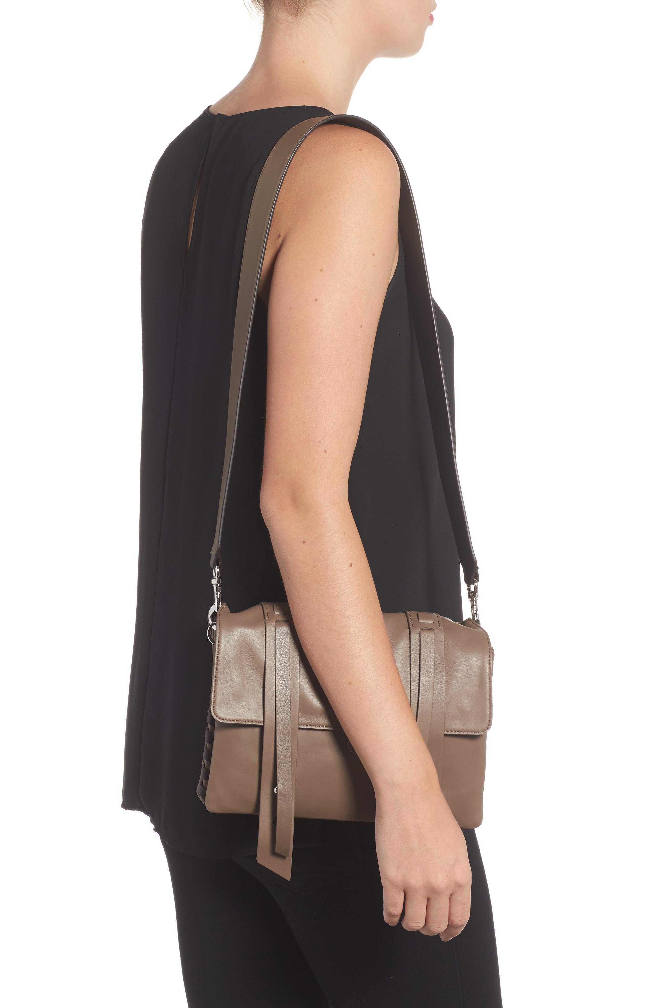 Fin Lambskin Leather Messenger Bag,                             Alternate thumbnail 3, color,