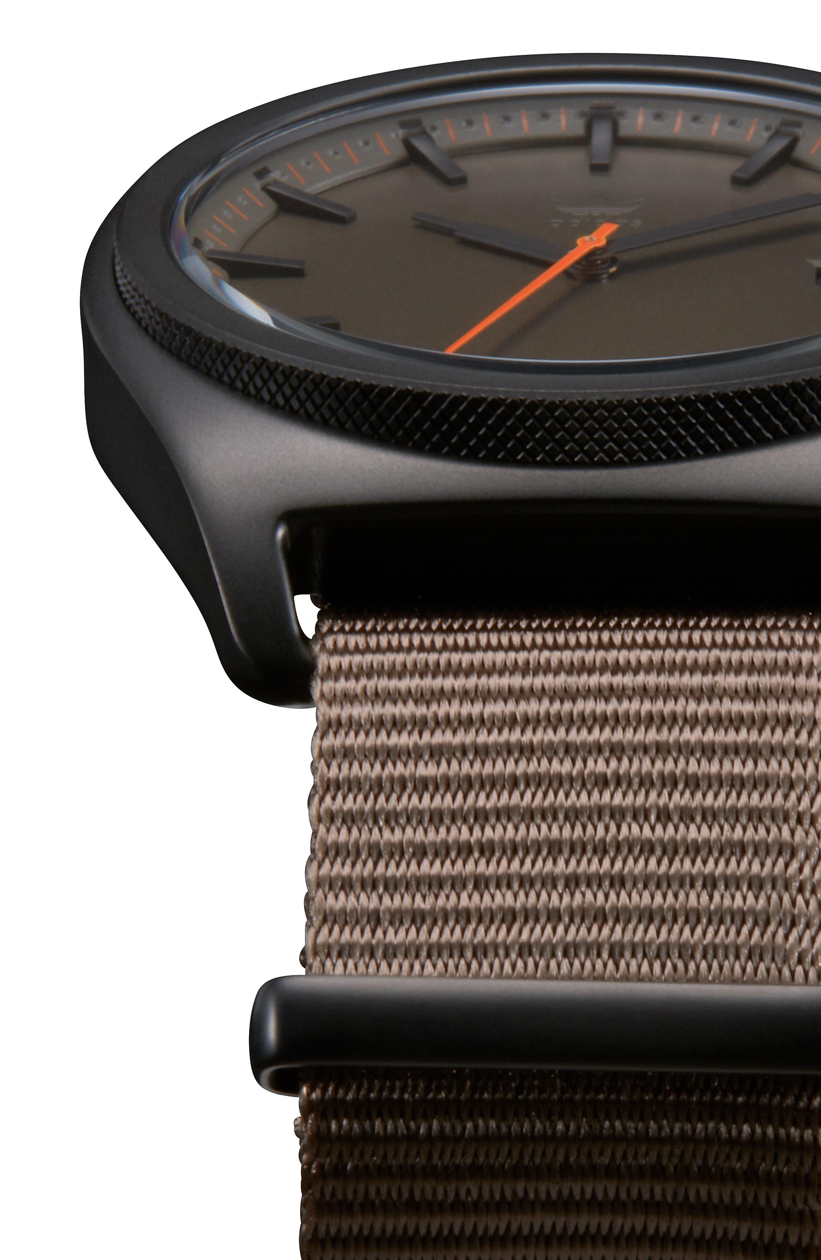 Process Nylon Strap Watch, 40mm,                             Alternate thumbnail 4, color,                             BROWN/ BRANCH/ BLACK