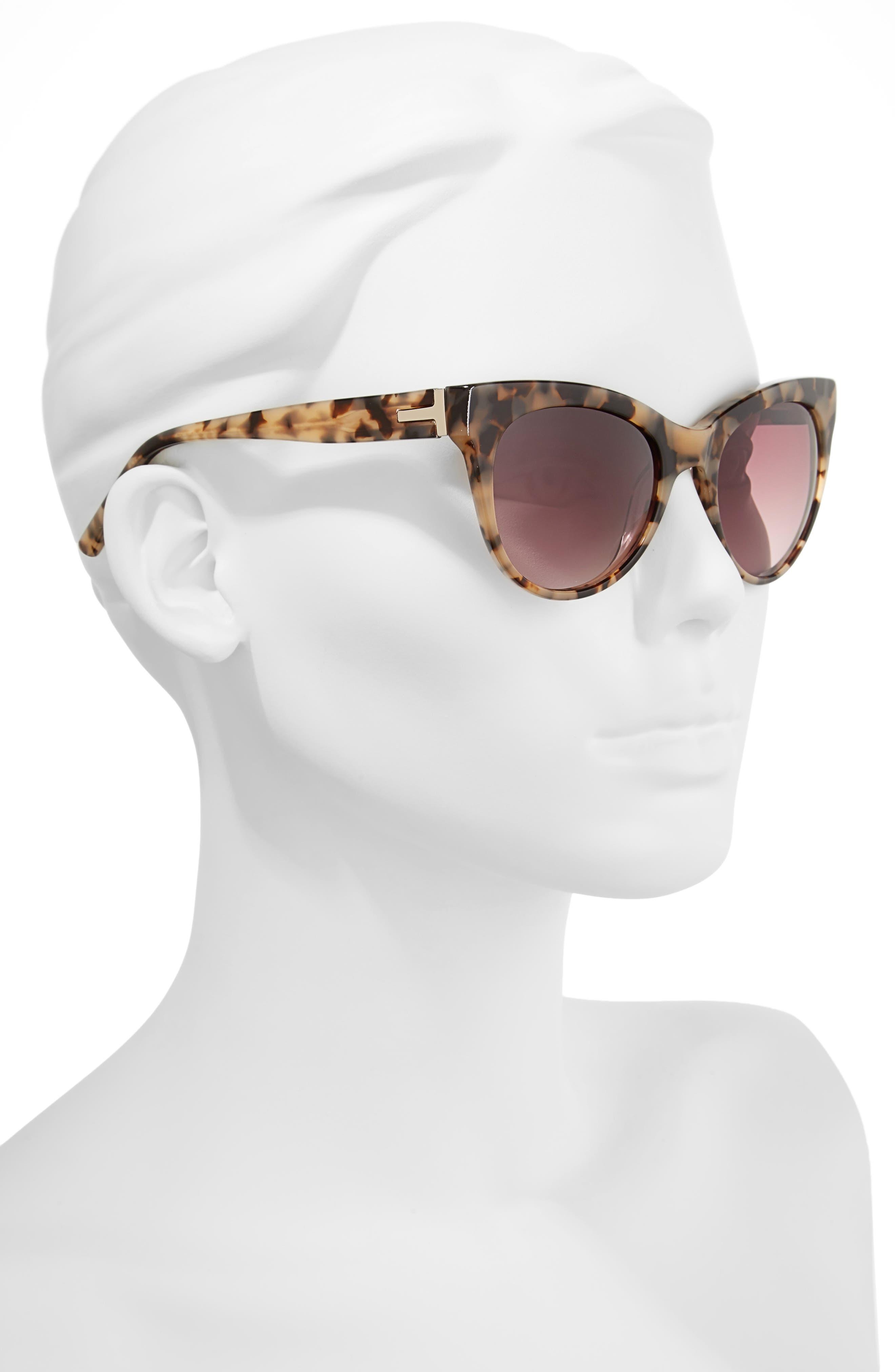 51mm Cat Eye Sunglasses,                             Alternate thumbnail 4, color,
