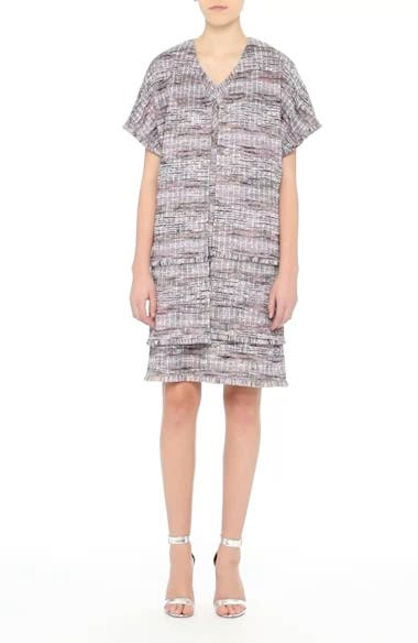 Anna Stripe Tweed Dress, video thumbnail