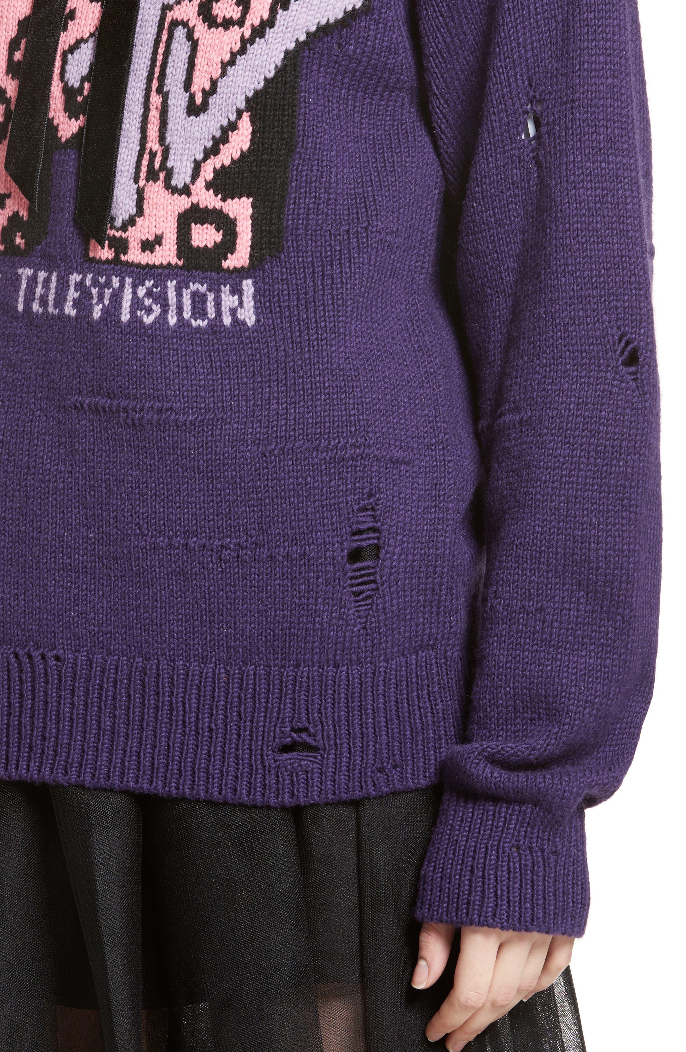 x MTV Logo Sweater,                             Alternate thumbnail 4, color,                             521