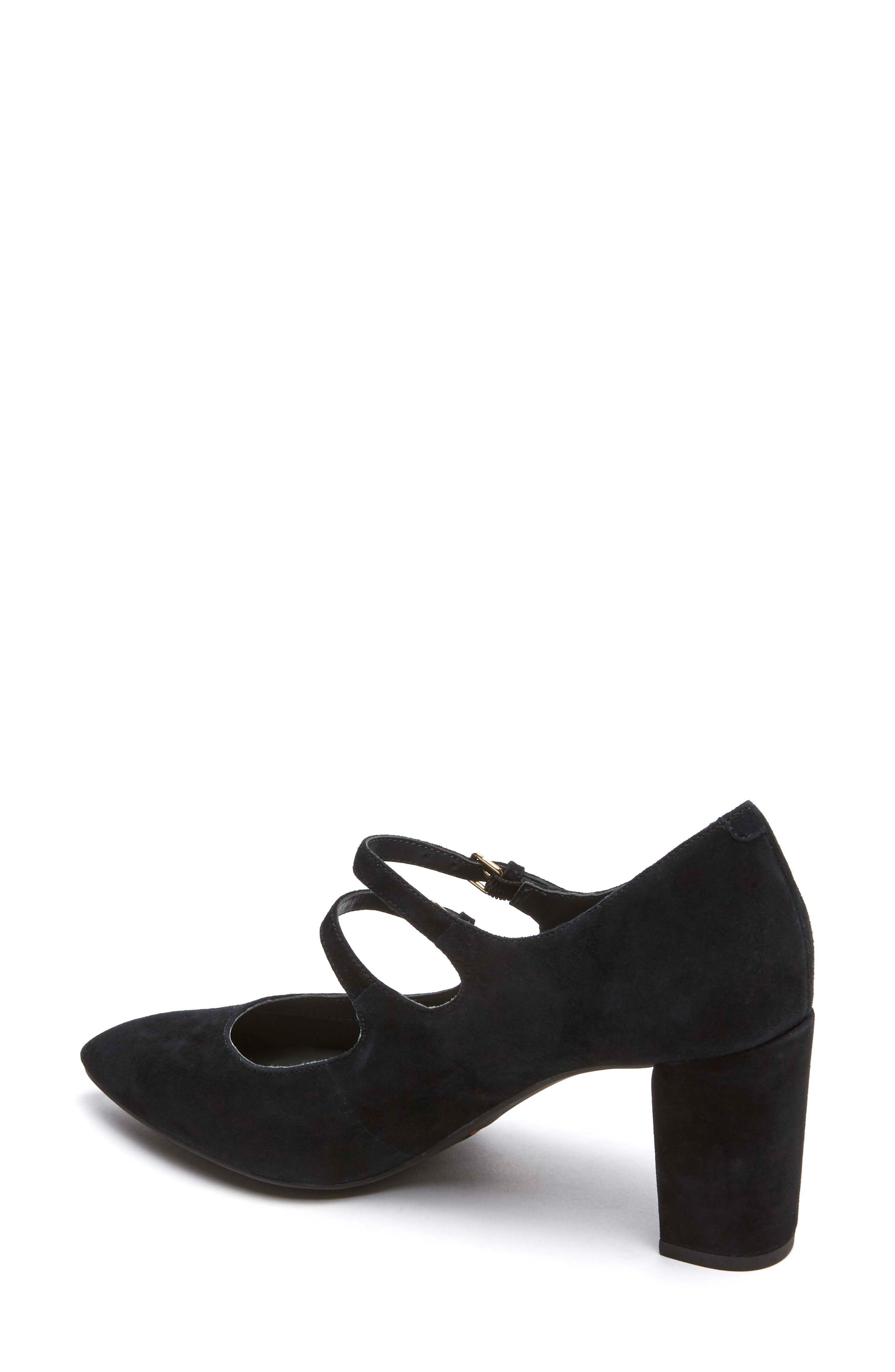 Violina Luxe Double Strap Mary Jane Pump,                             Alternate thumbnail 2, color,                             BLACK SUEDE