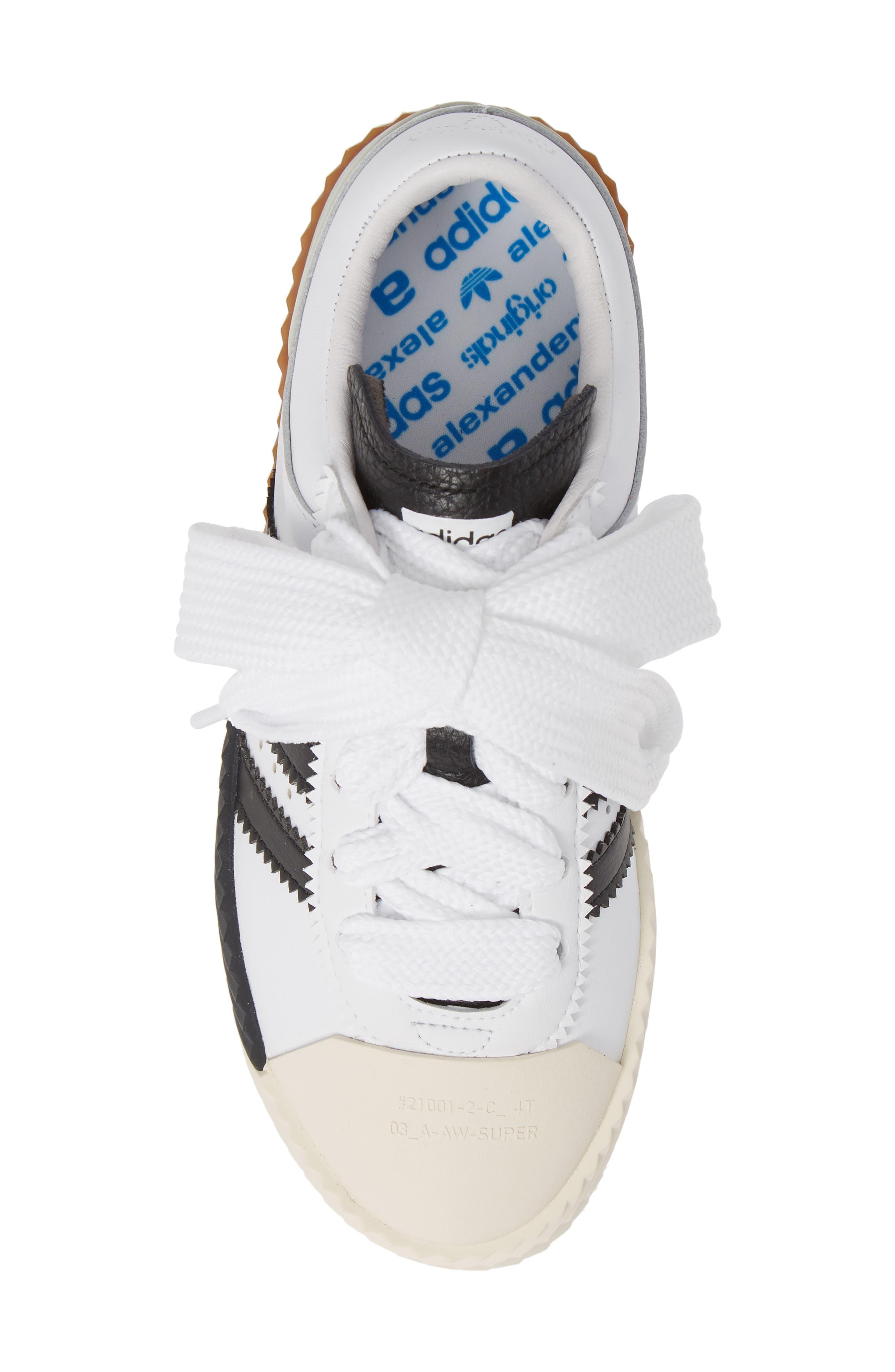Skate Super Sneaker,                             Alternate thumbnail 5, color,                             WHITE/ BLACK/ BROWN