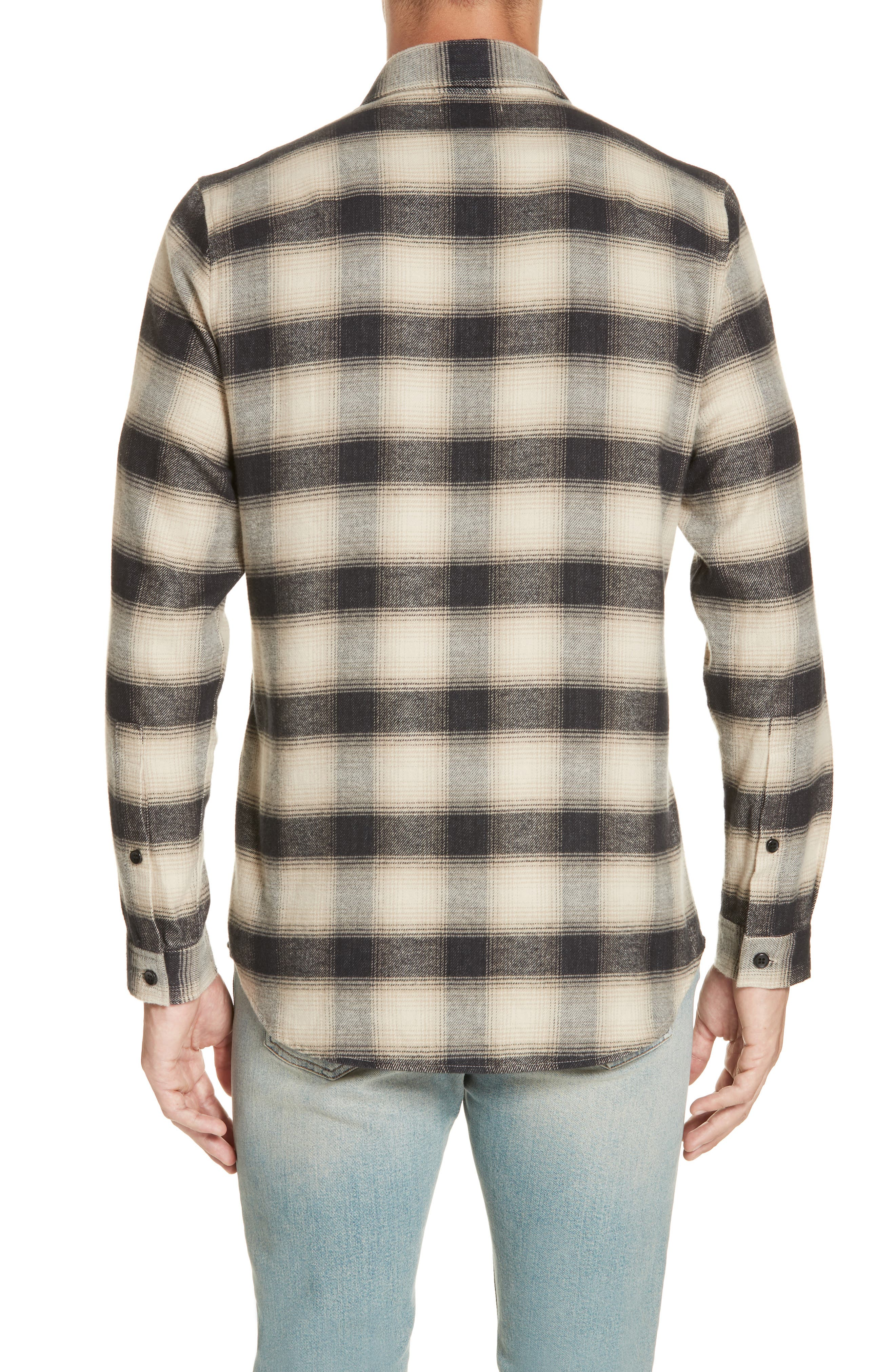 Brushed Flannel Shirt,                             Alternate thumbnail 3, color,                             101