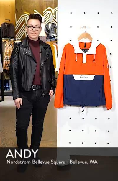 Honnold Colorblock Fleece Pullover Hoodie, sales video thumbnail