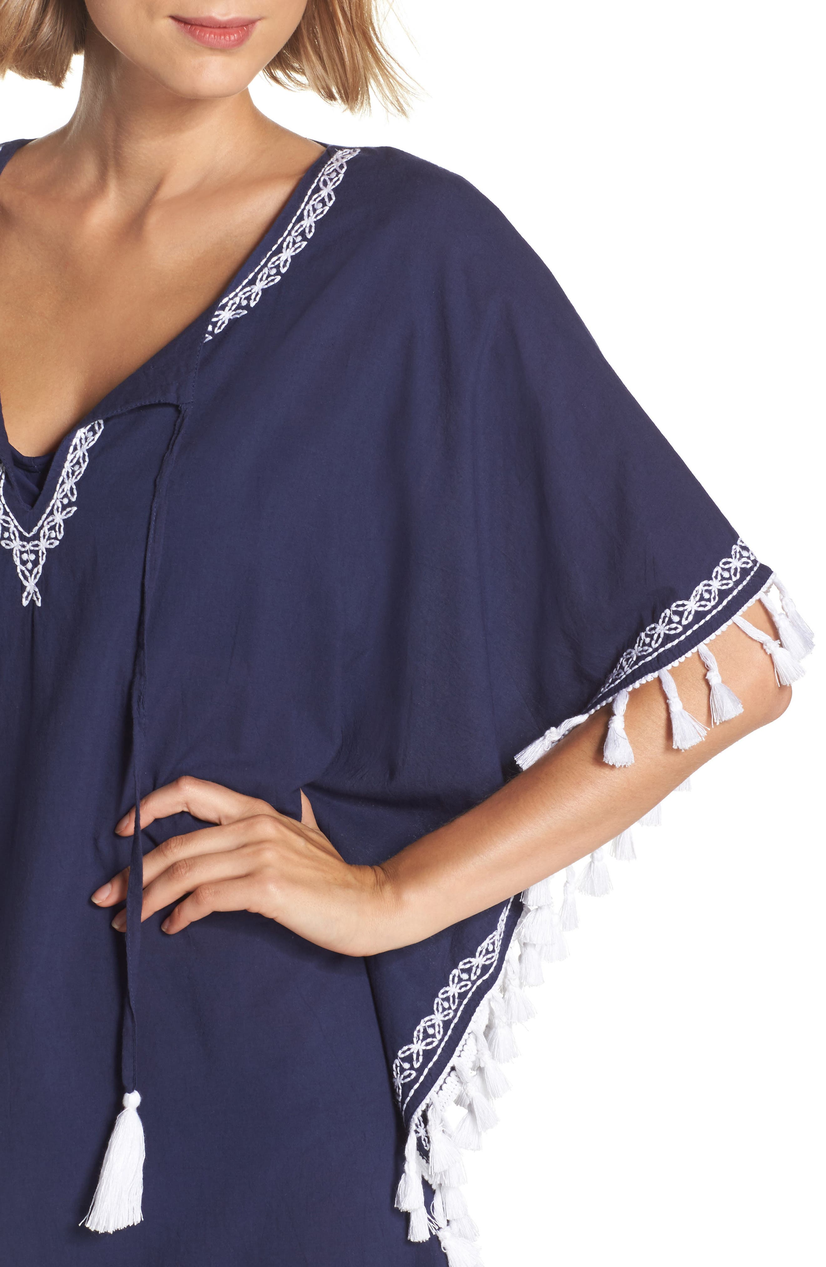 Voile Cover-Up Tunic,                             Alternate thumbnail 4, color,                             400