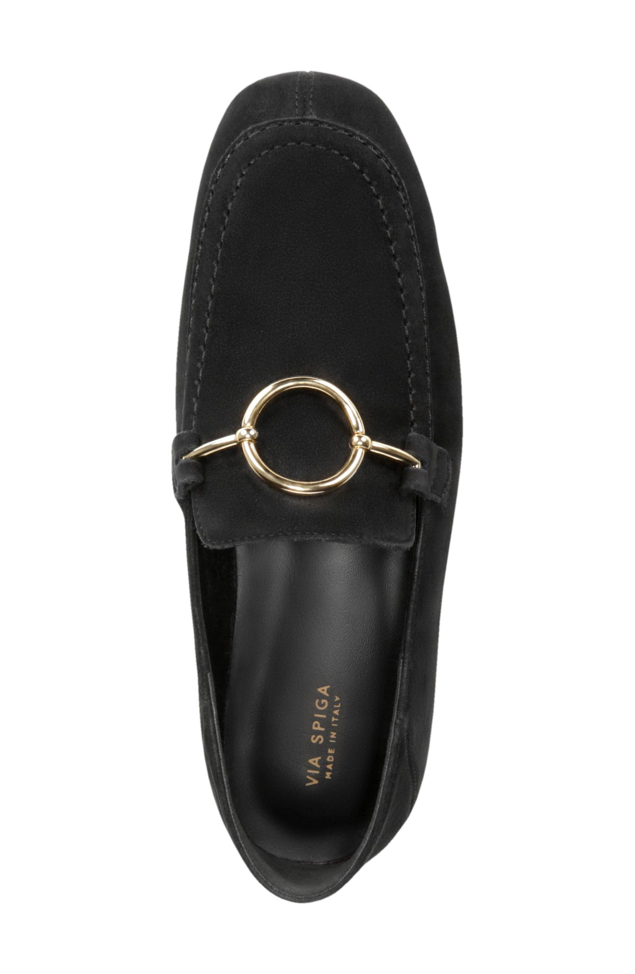 Abby Loafer,                             Alternate thumbnail 4, color,                             BLACK NUBUCK LEATHER