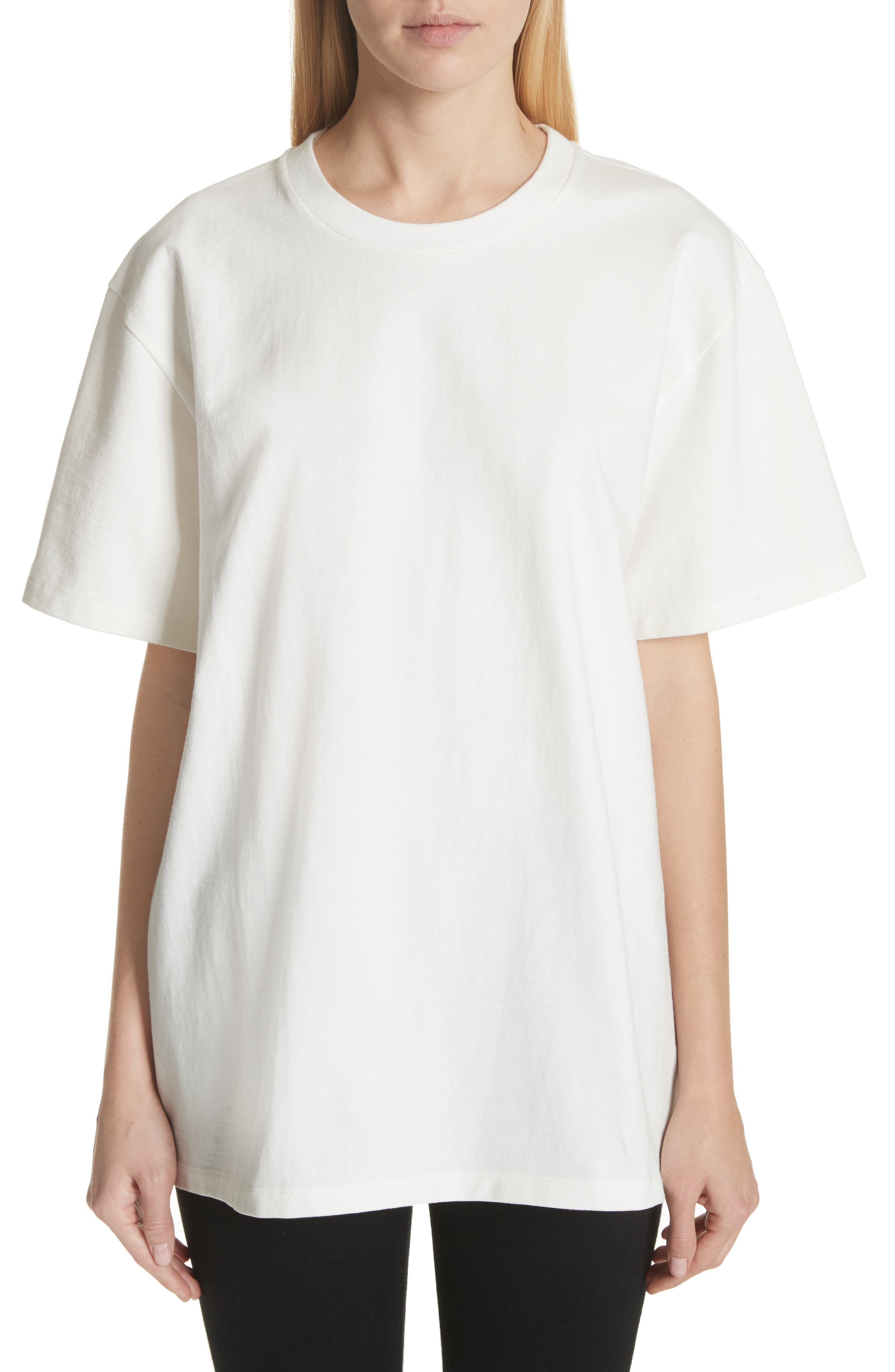 Oversize Tee,                         Main,                         color, PURE WHITE