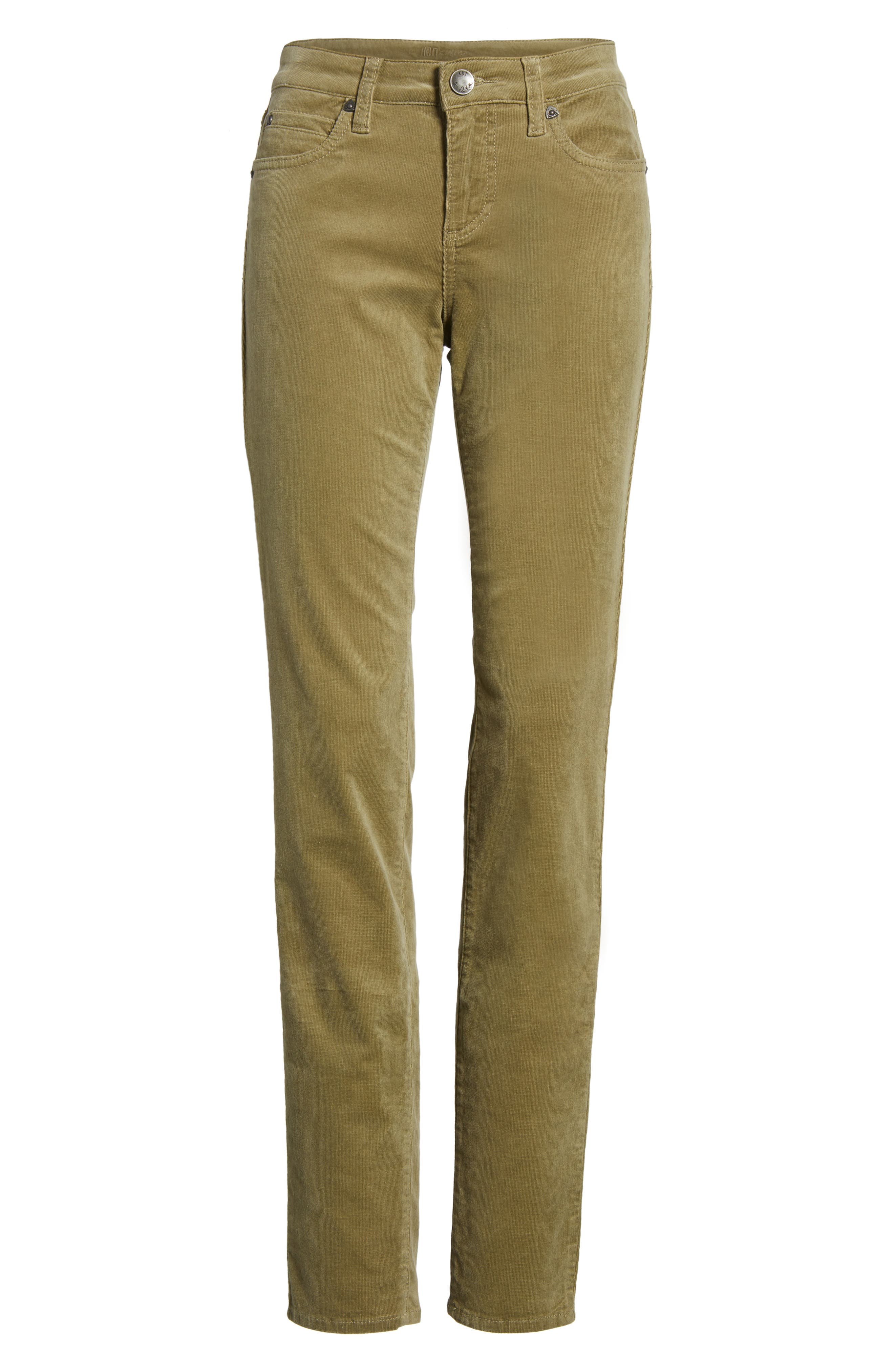 'Diana' Stretch Corduroy Skinny Pants,                             Alternate thumbnail 279, color,