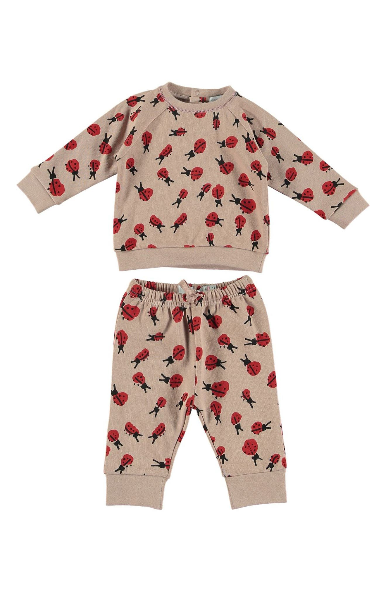 STELLA MCCARTNEY KIDS,                             Betty Ladybug Sweatshirt & Jogger Pants,                             Main thumbnail 1, color,                             650