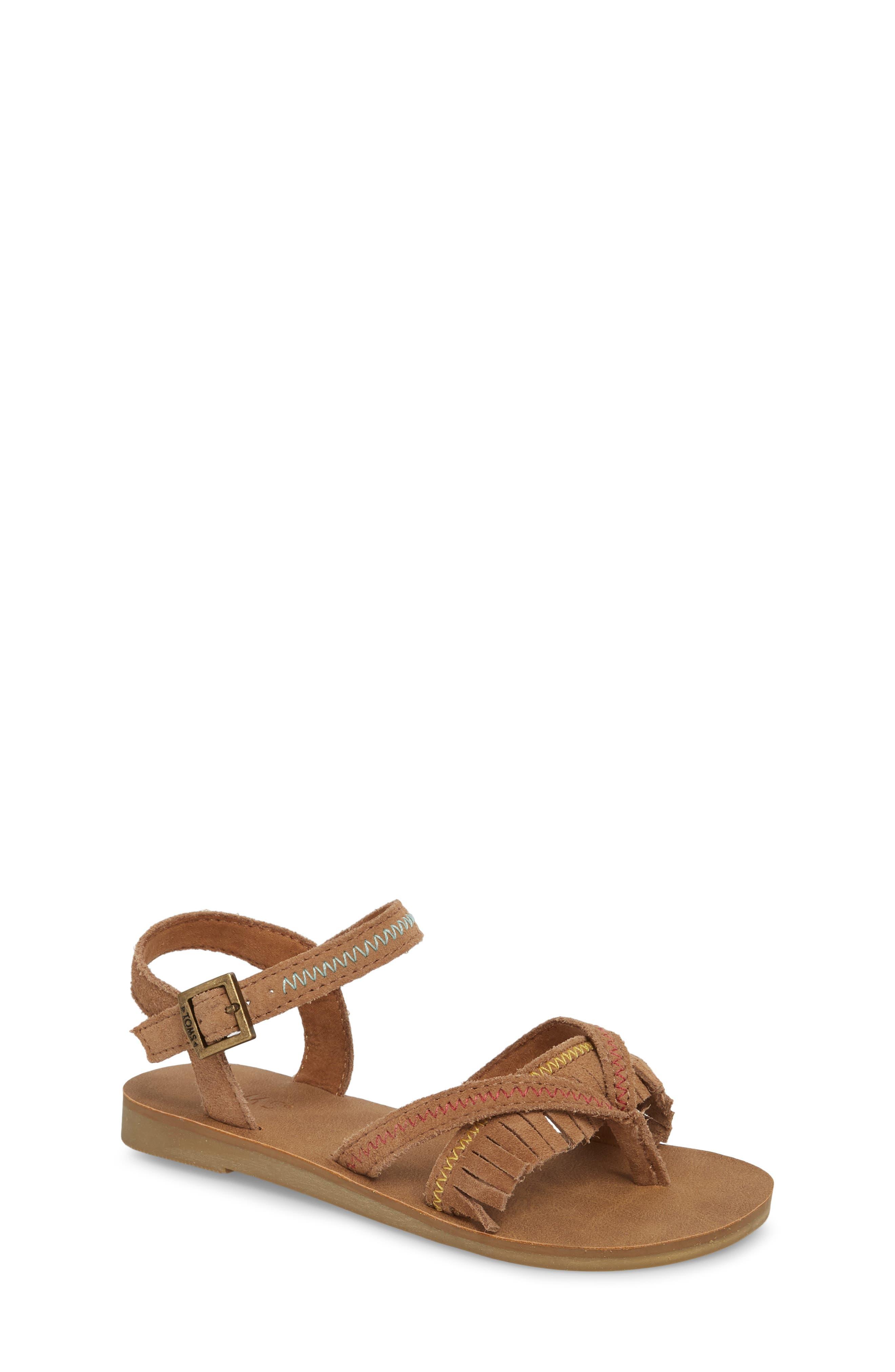 Lexie Fringe Sandal,                         Main,                         color,