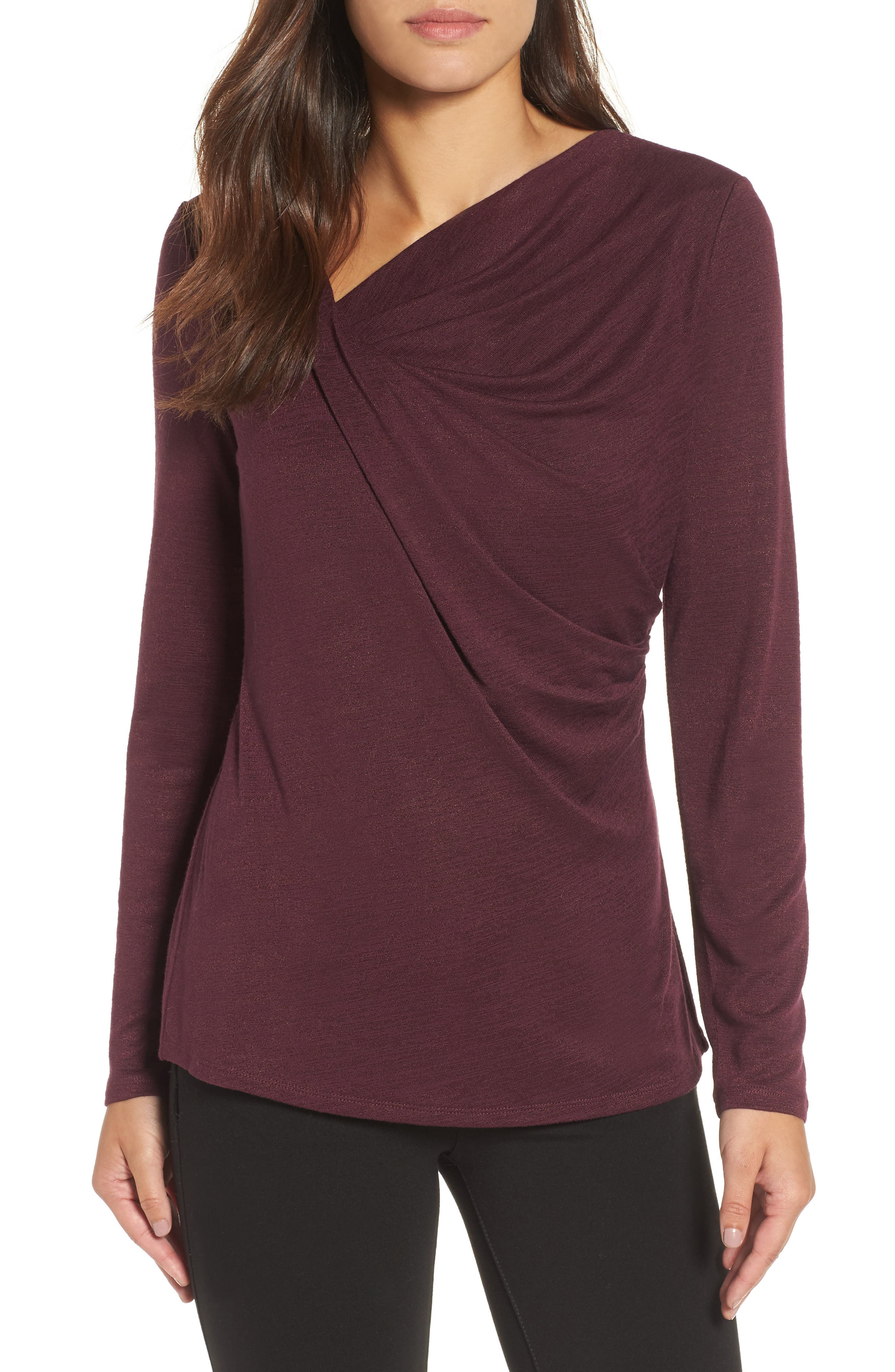 Every Occasion Drape Top,                             Main thumbnail 4, color,