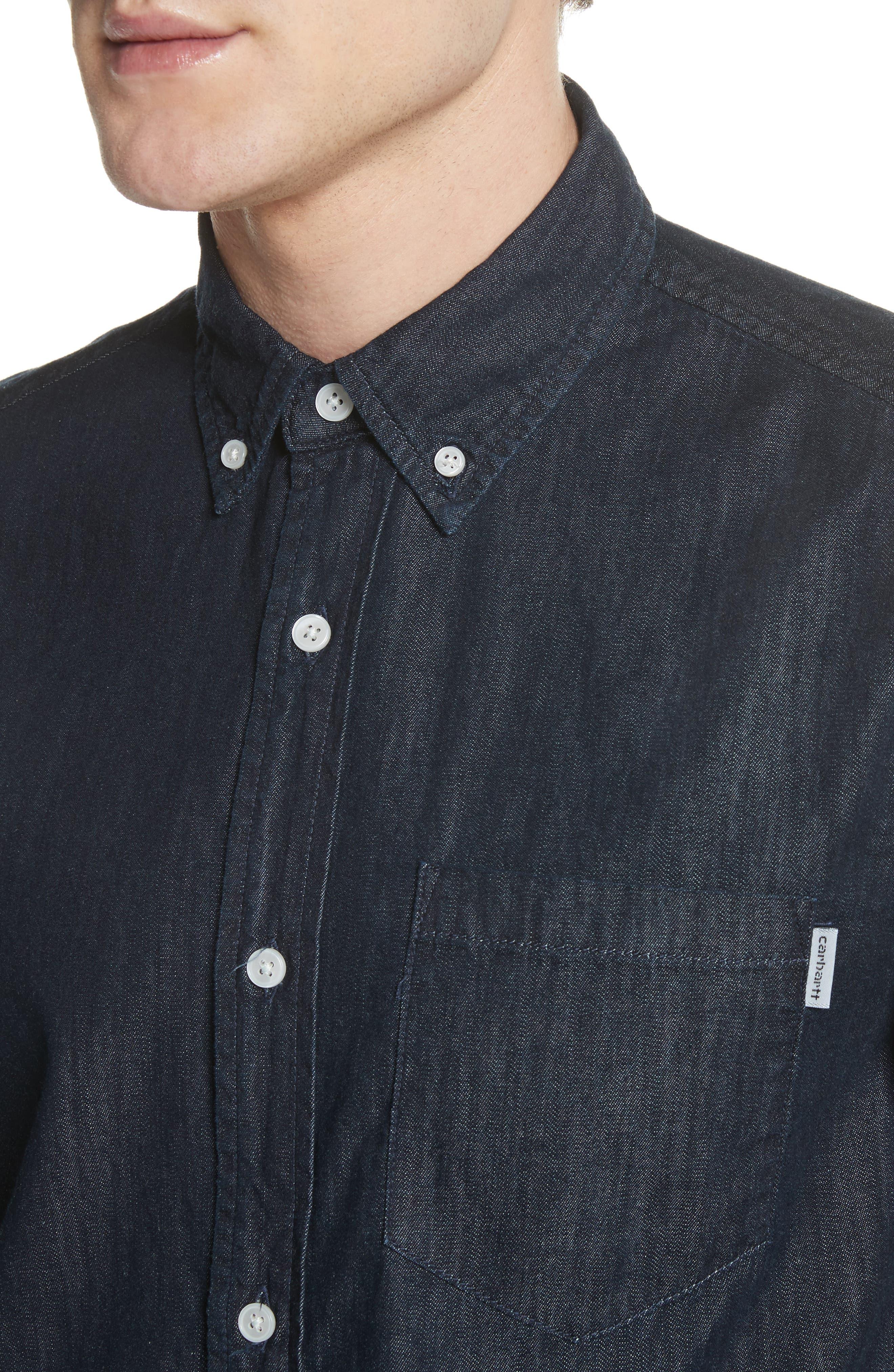 Civil Denim Shirt,                             Alternate thumbnail 4, color,                             400