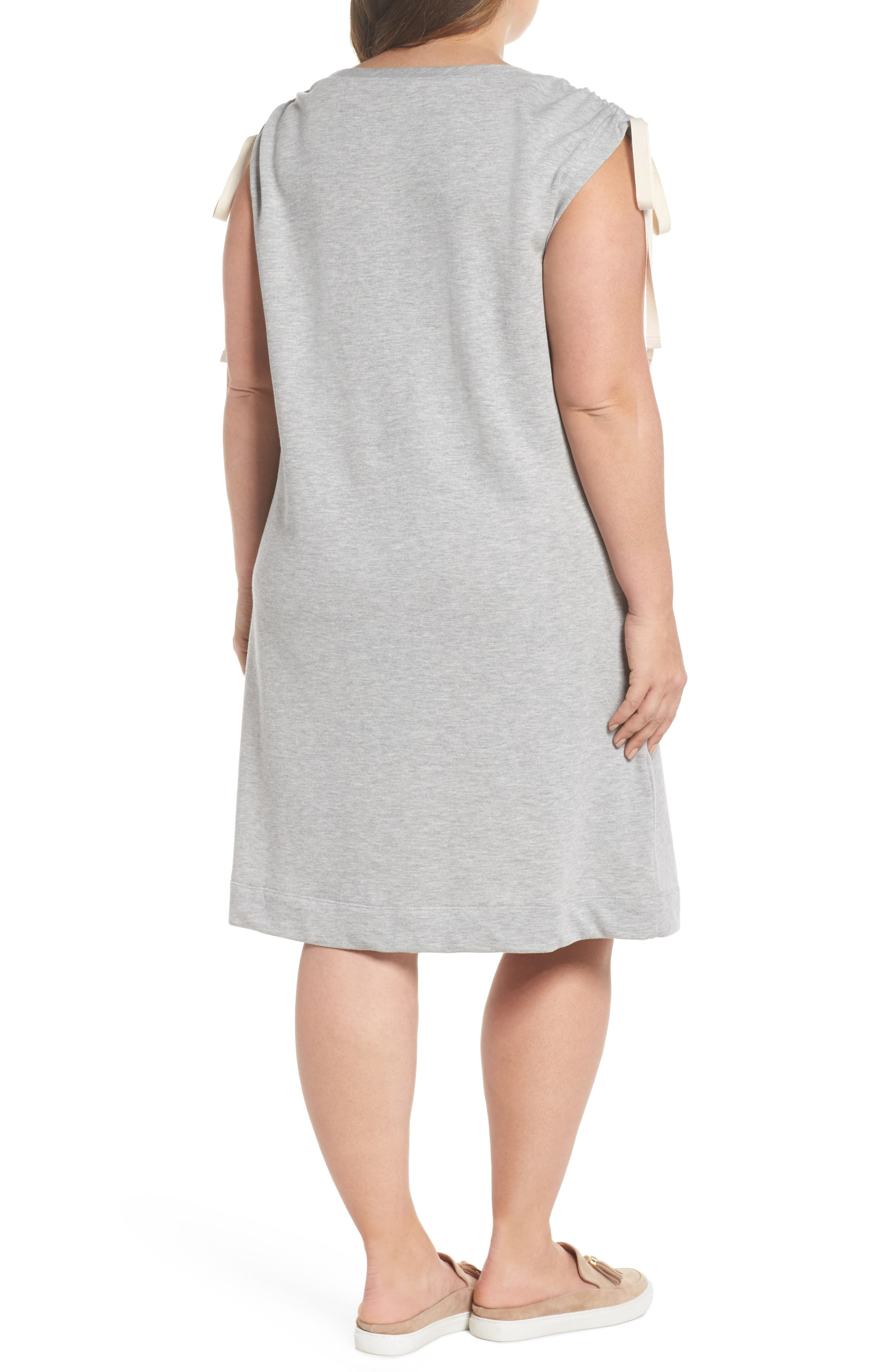 Ruched Shoulder Shift Dress,                             Alternate thumbnail 2, color,                             030