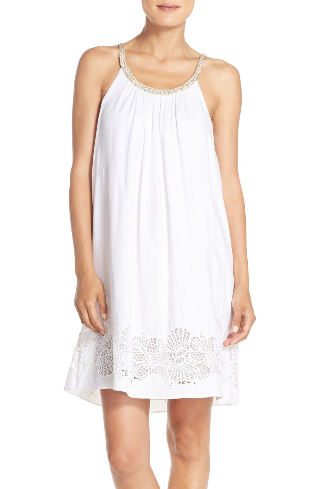 LILLY PULITZER<SUP>®</SUP>,                             'Sienna' Embroidered Swing Dress,                             Main thumbnail 1, color,                             115