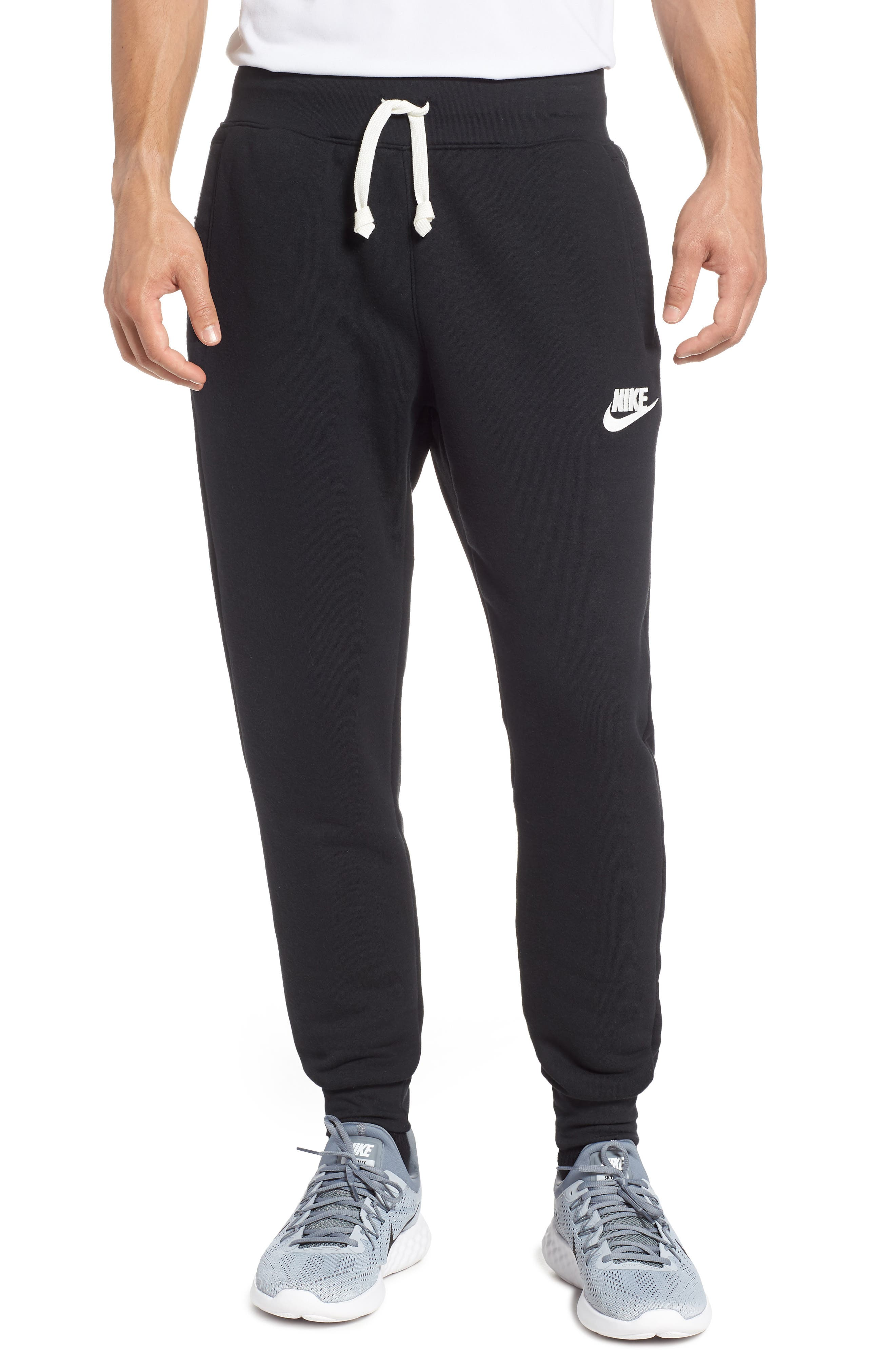 Heritage Jogger Pants,                         Main,                         color, BLACK/ SAIL