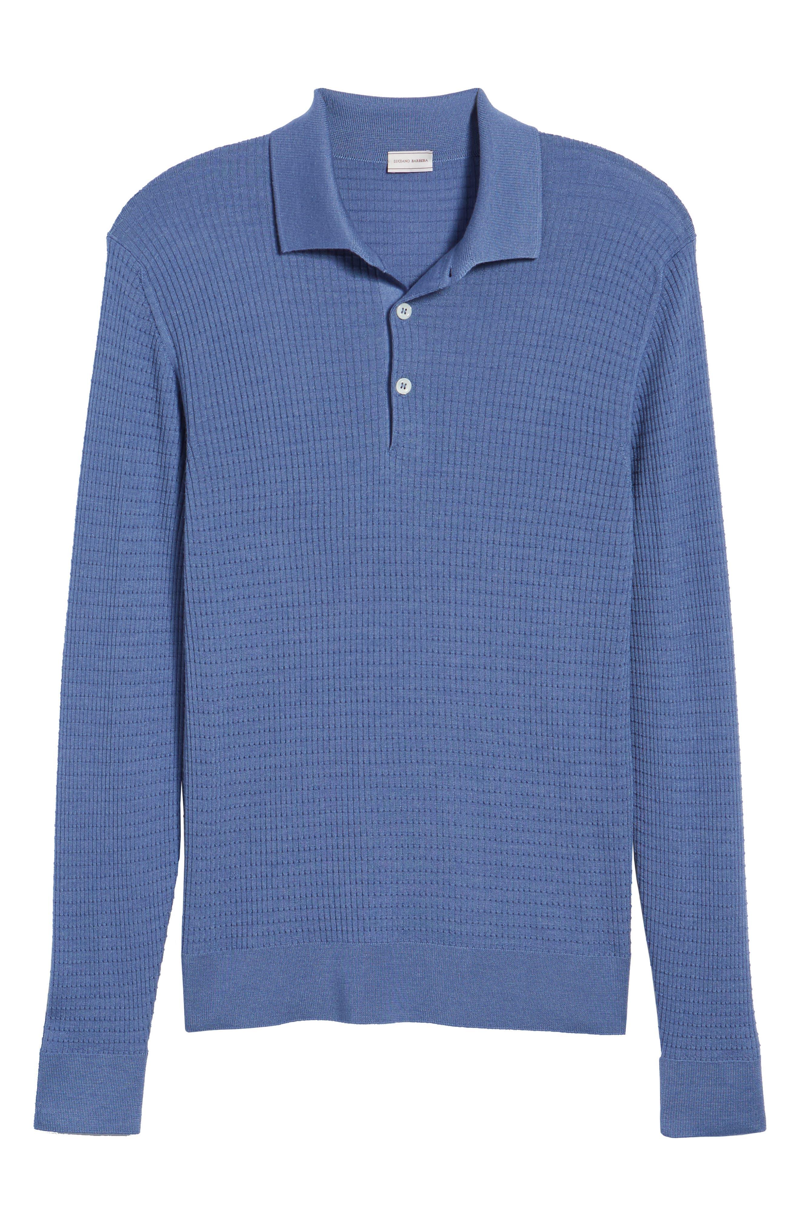 Silk & Cashmere Blend Polo,                             Alternate thumbnail 6, color,                             400