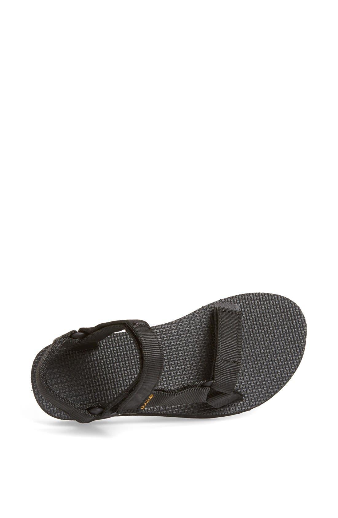 'Original Universal' Sandal,                             Alternate thumbnail 3, color,                             BLACK
