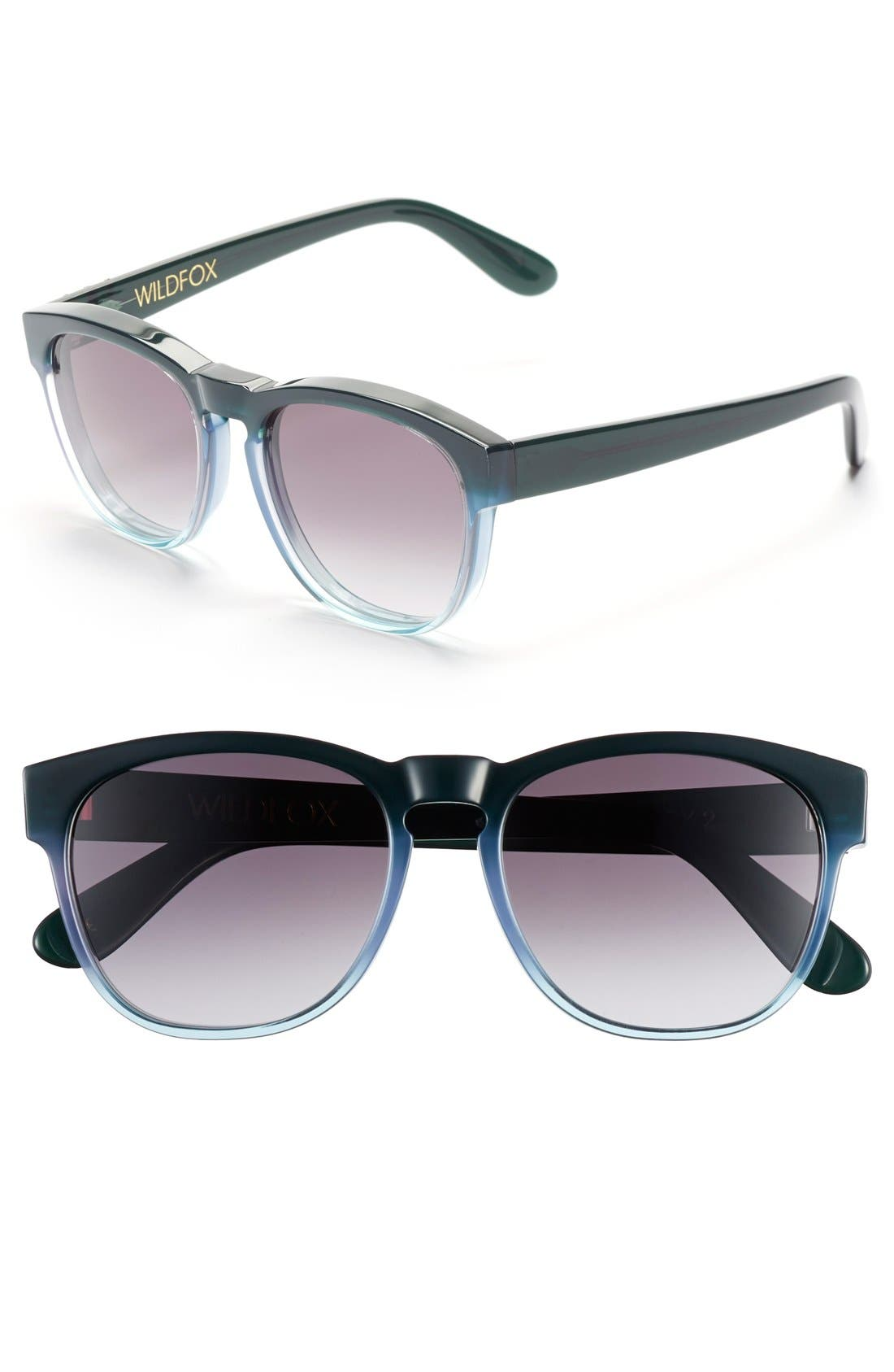 'Classic Fox' 50mm Retro Sunglasses,                         Main,                         color,