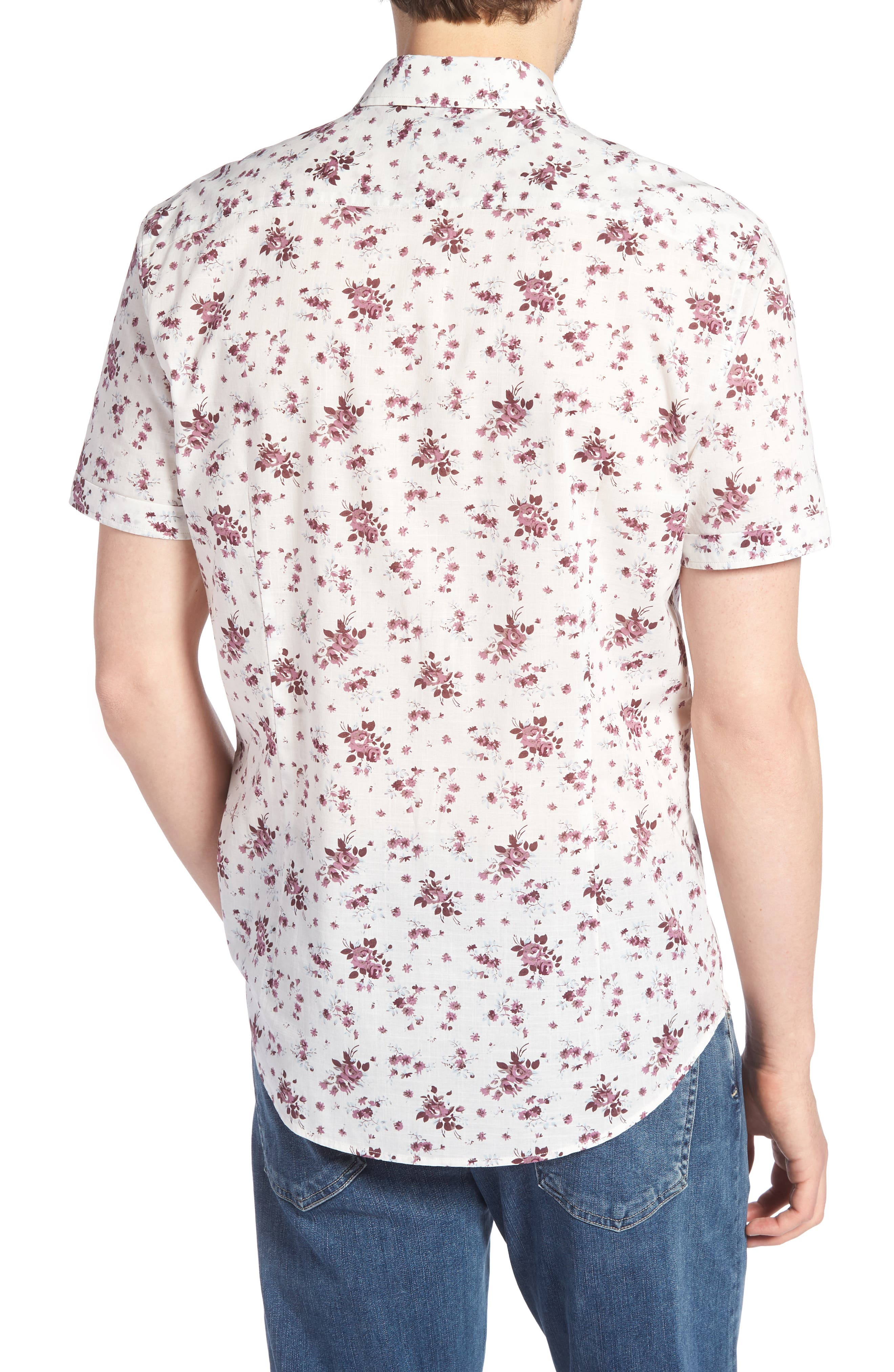 Regular Fit Floral Woven Shirt,                             Alternate thumbnail 2, color,                             661
