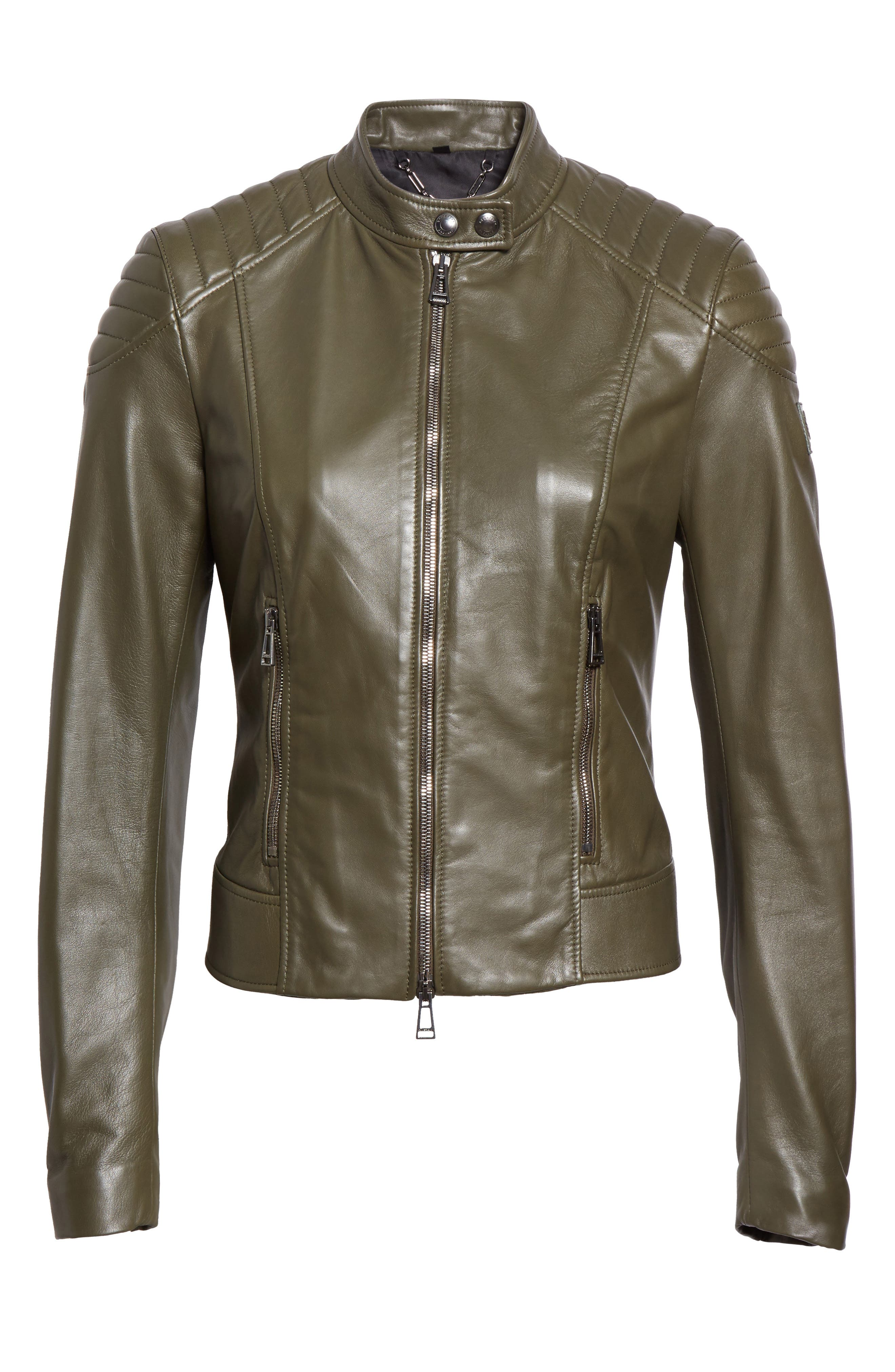 Mollison Leather Moto Jacket,                             Alternate thumbnail 3, color,