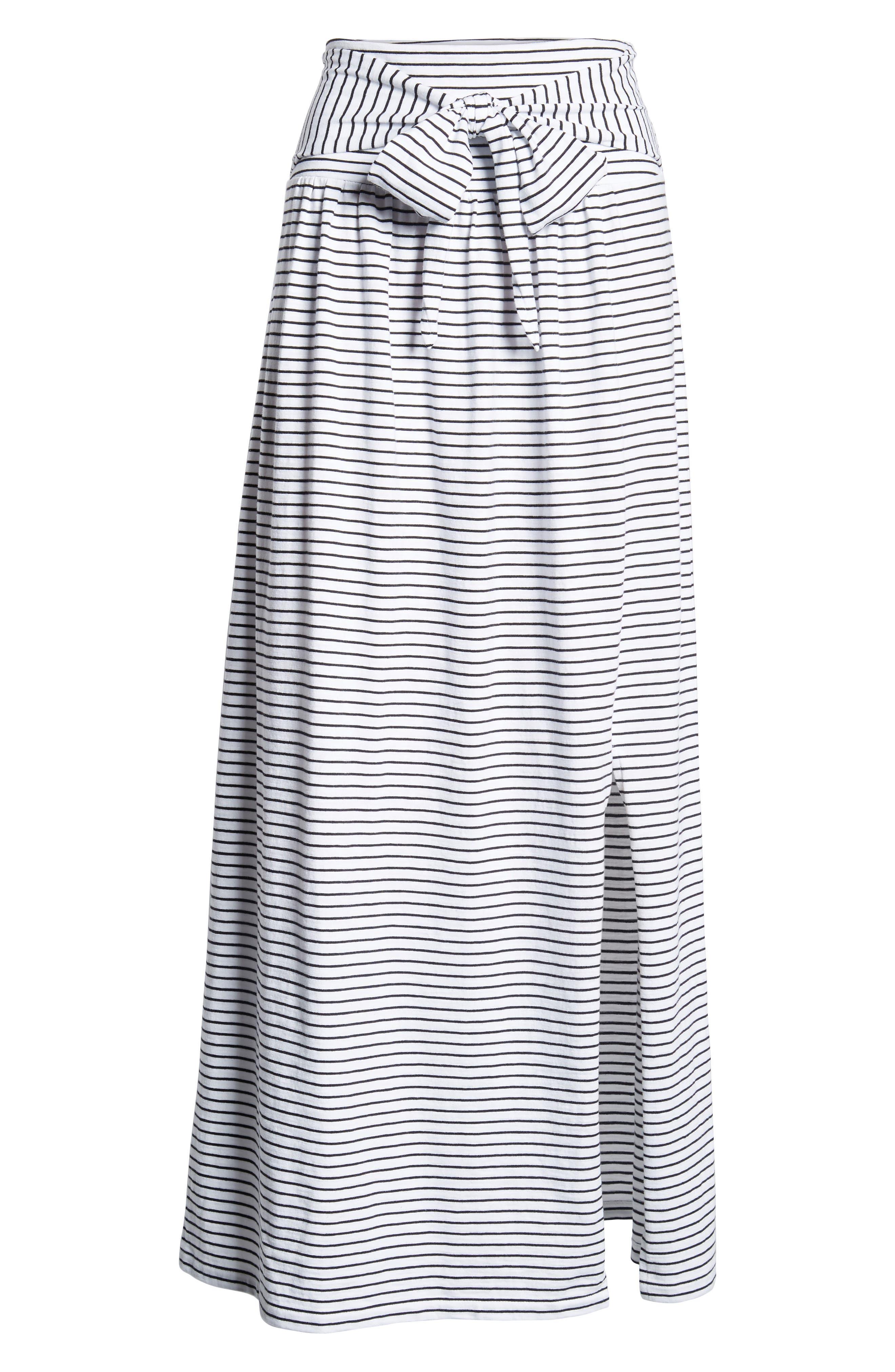 Tie Front Cotton Maxi Skirt,                             Alternate thumbnail 27, color,