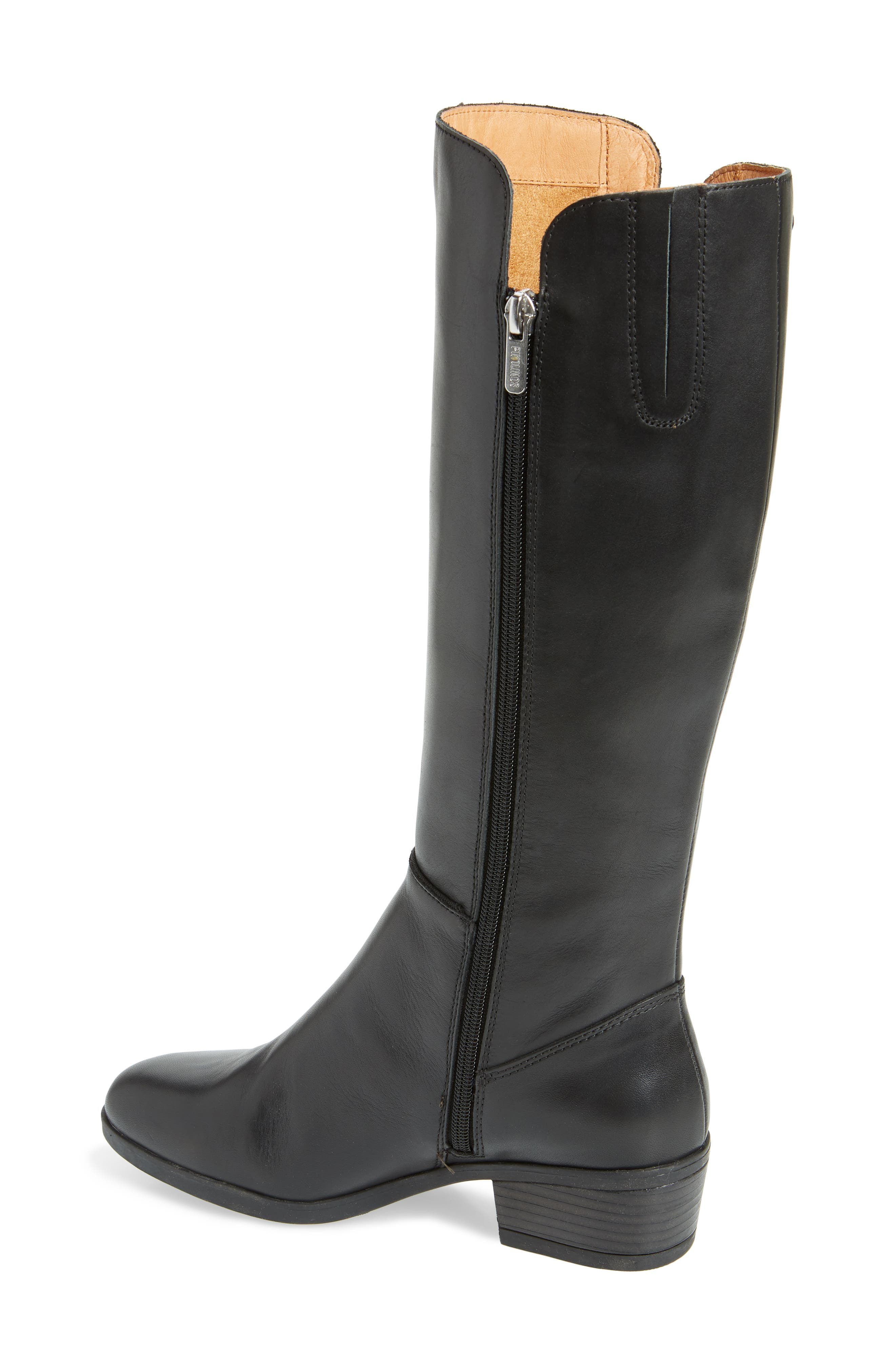 Daroca Knee High Boot,                             Alternate thumbnail 2, color,                             BLACK LEATHER