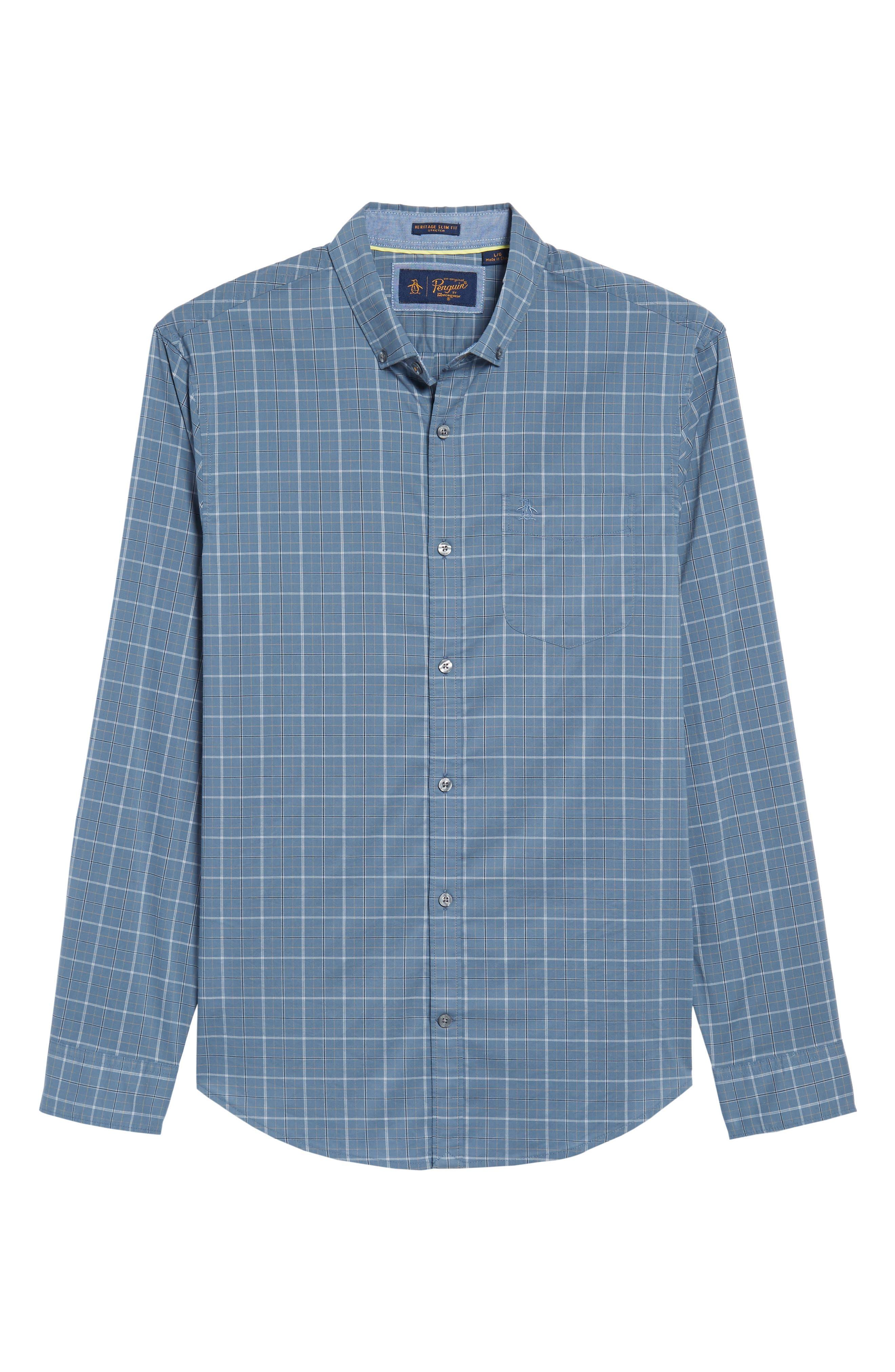 Slim Fit Plaid Woven Shirt,                             Alternate thumbnail 6, color,