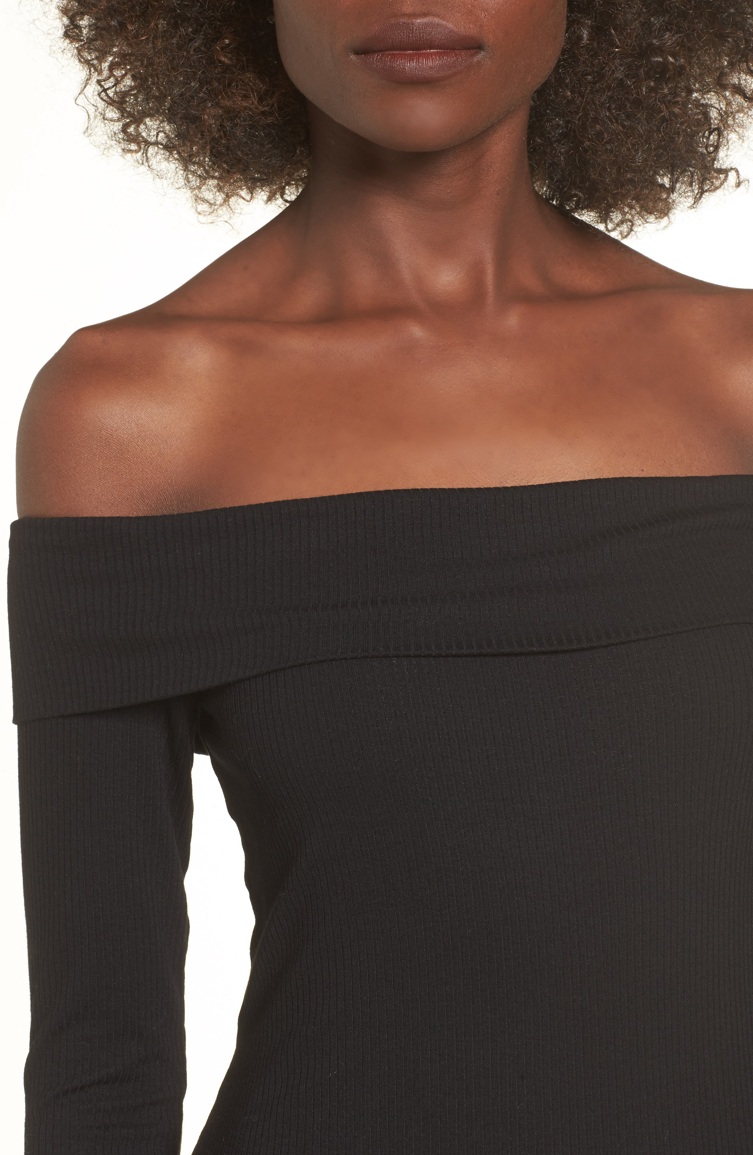 Silas Off the Shoulder Body-Con Dress,                             Alternate thumbnail 10, color,