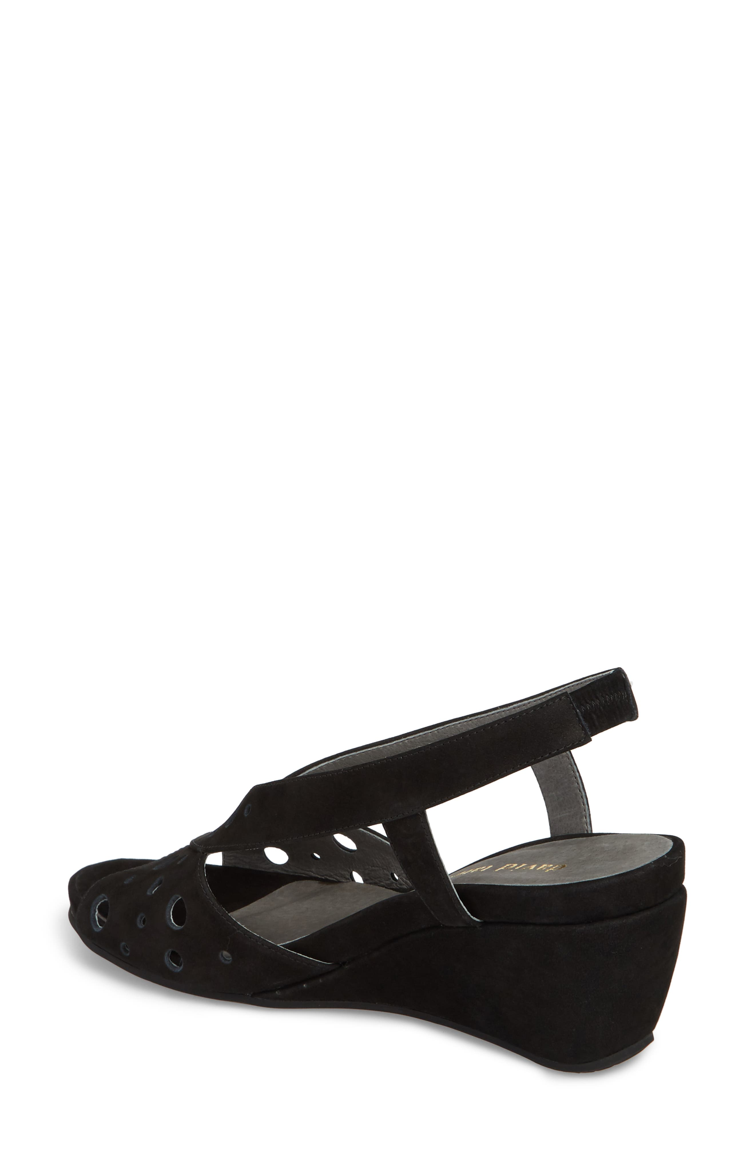 Yummy Wedge,                             Alternate thumbnail 2, color,                             BLACK NUBUCK